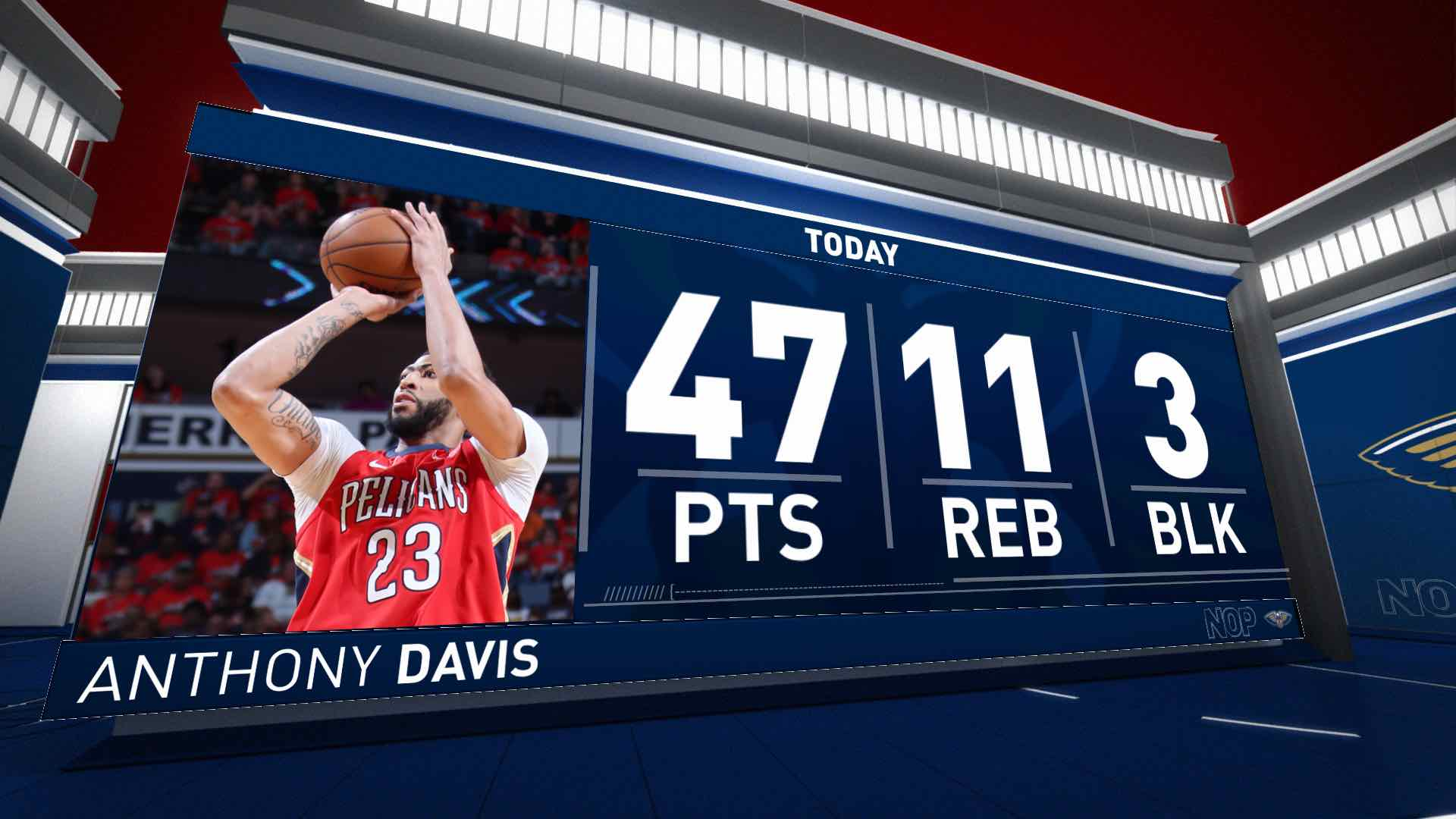 Anthony Davis (47 points) Highlights vs. Portland Trail Blazers