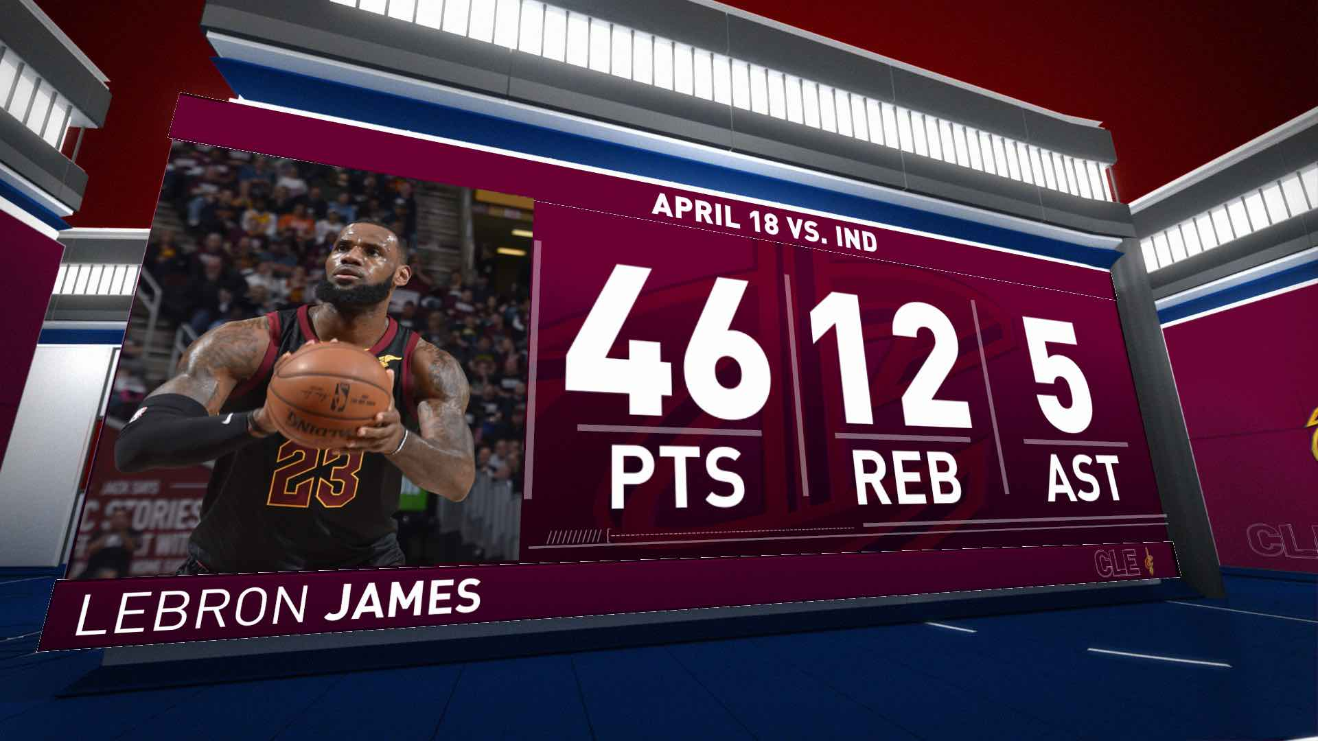 LeBron James (46 points) Highlights vs. Indiana Pacers
