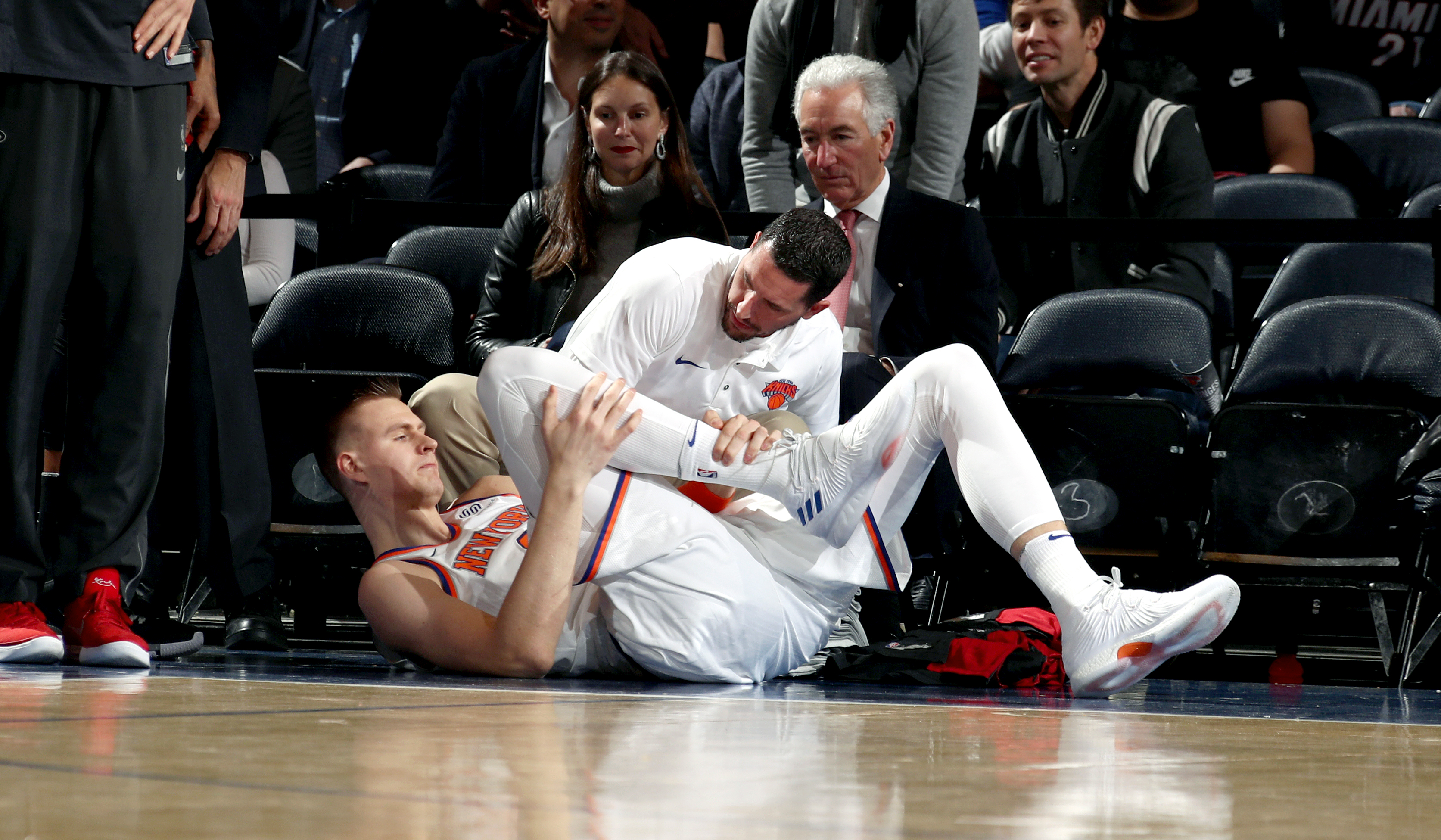 Image result for christian porzingis injured