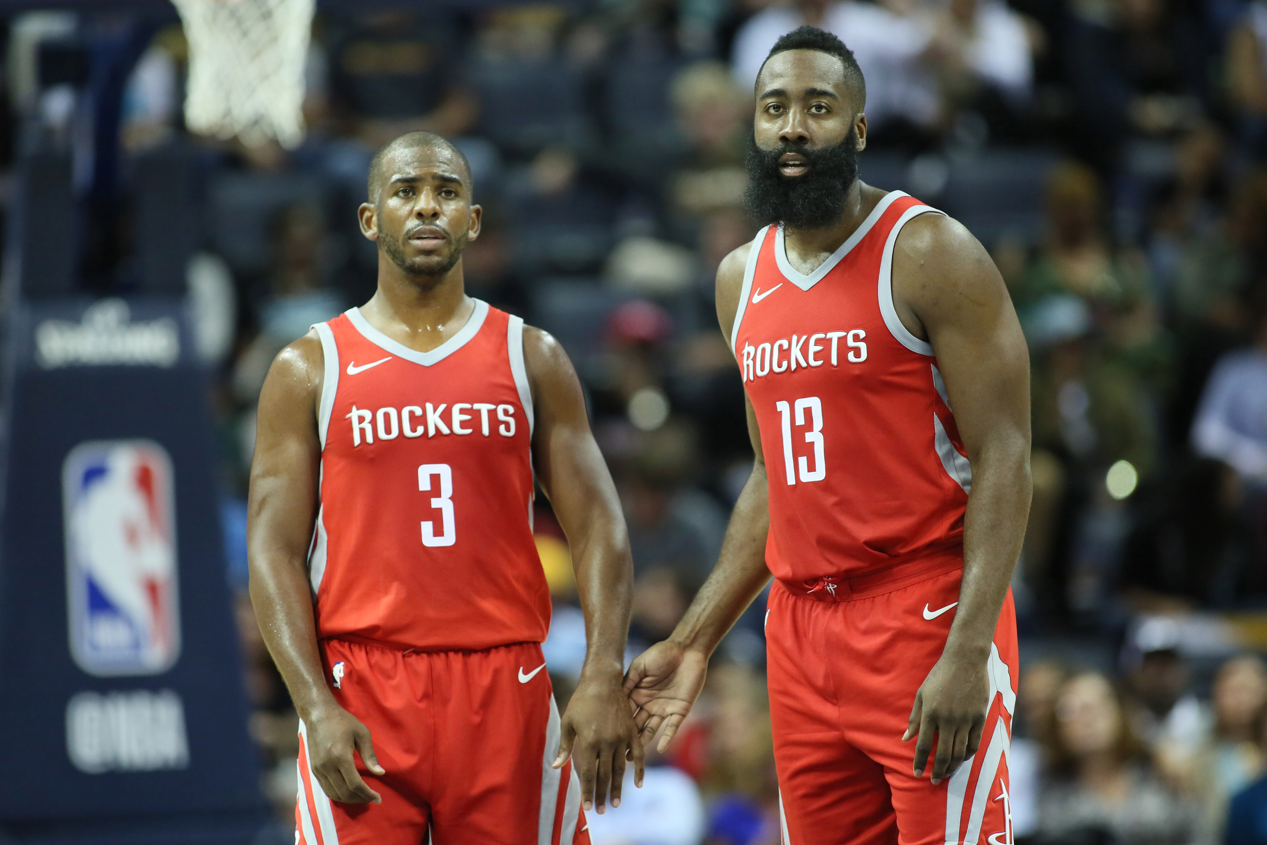 f191e15801c7 Chris Paul and James Harden showing good chemistry on court with Houston  Rockets