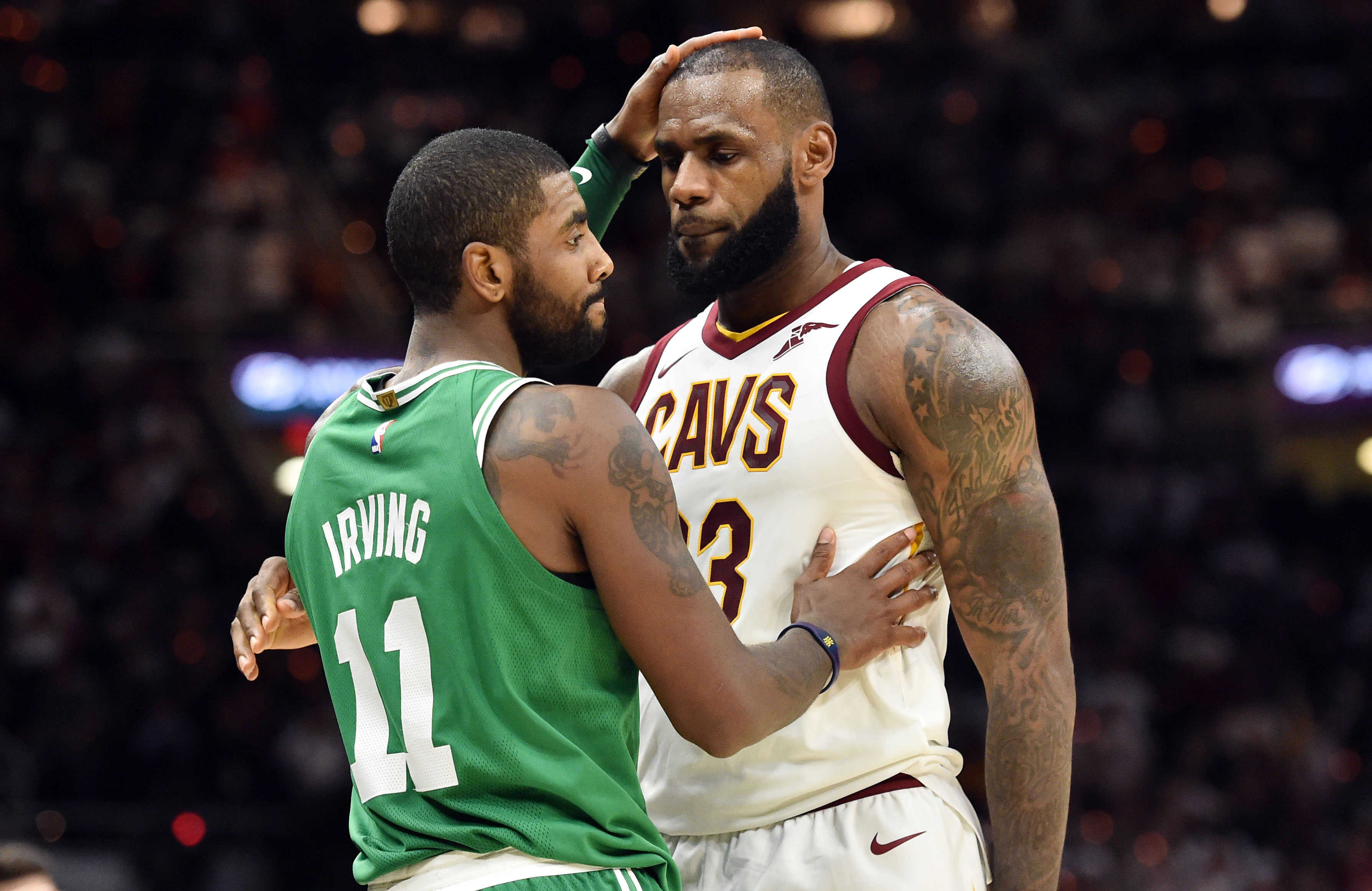 a503de041 Boston Celtics  Kyrie Irving coy on possible reunion with LeBron James