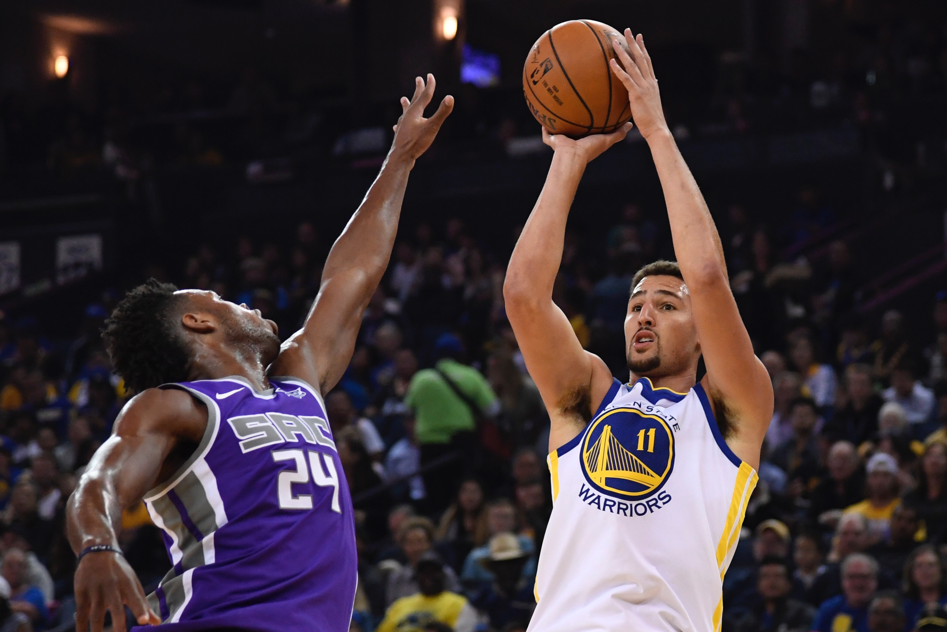 588c74669713 Report  Klay Thompson says its  goal of mine  to re-sign with Golden State  Warriors