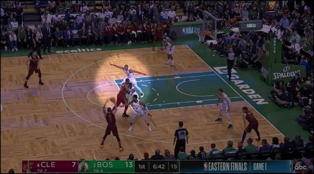 Celtics switch out of a switch