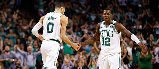 Jayson Tatum and Terry Rozier