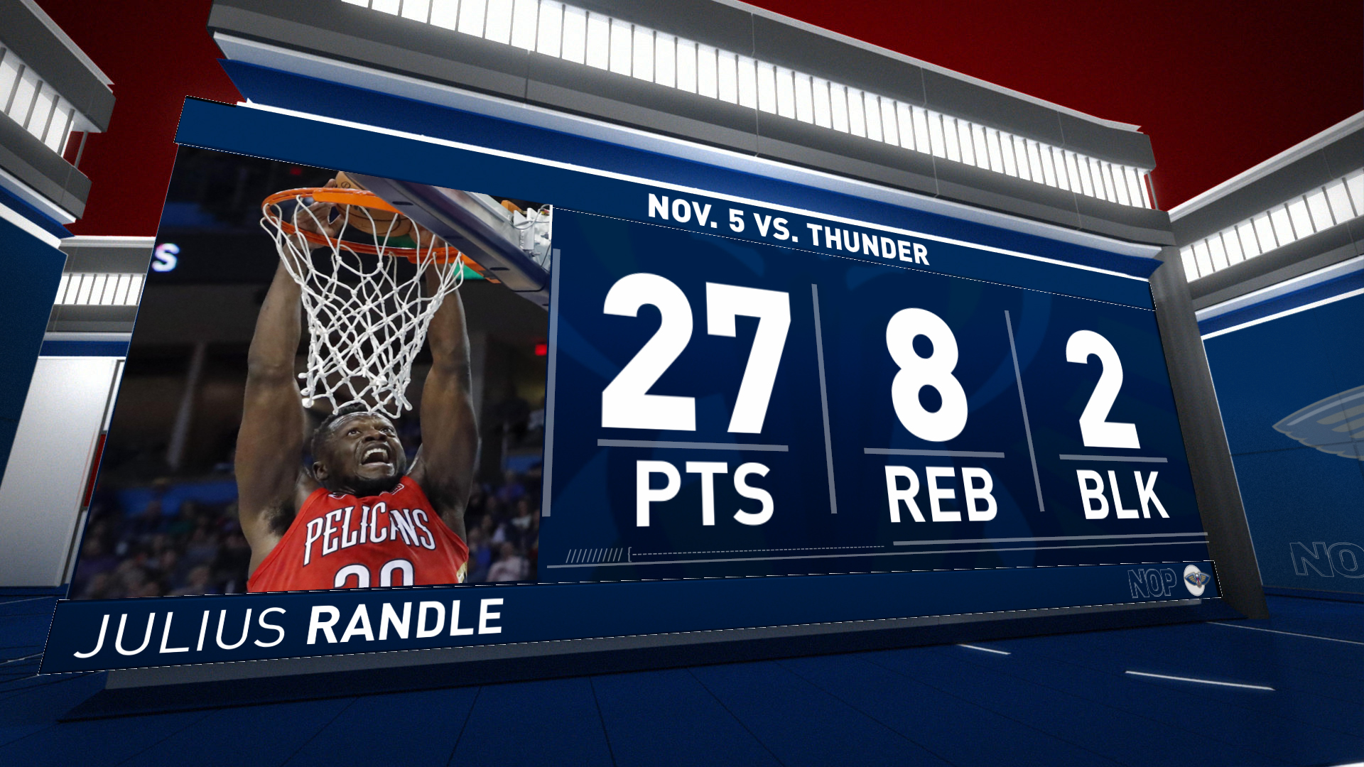 Highlights: Julius Randle scores 26 points vs. Oklahoma City Thunder