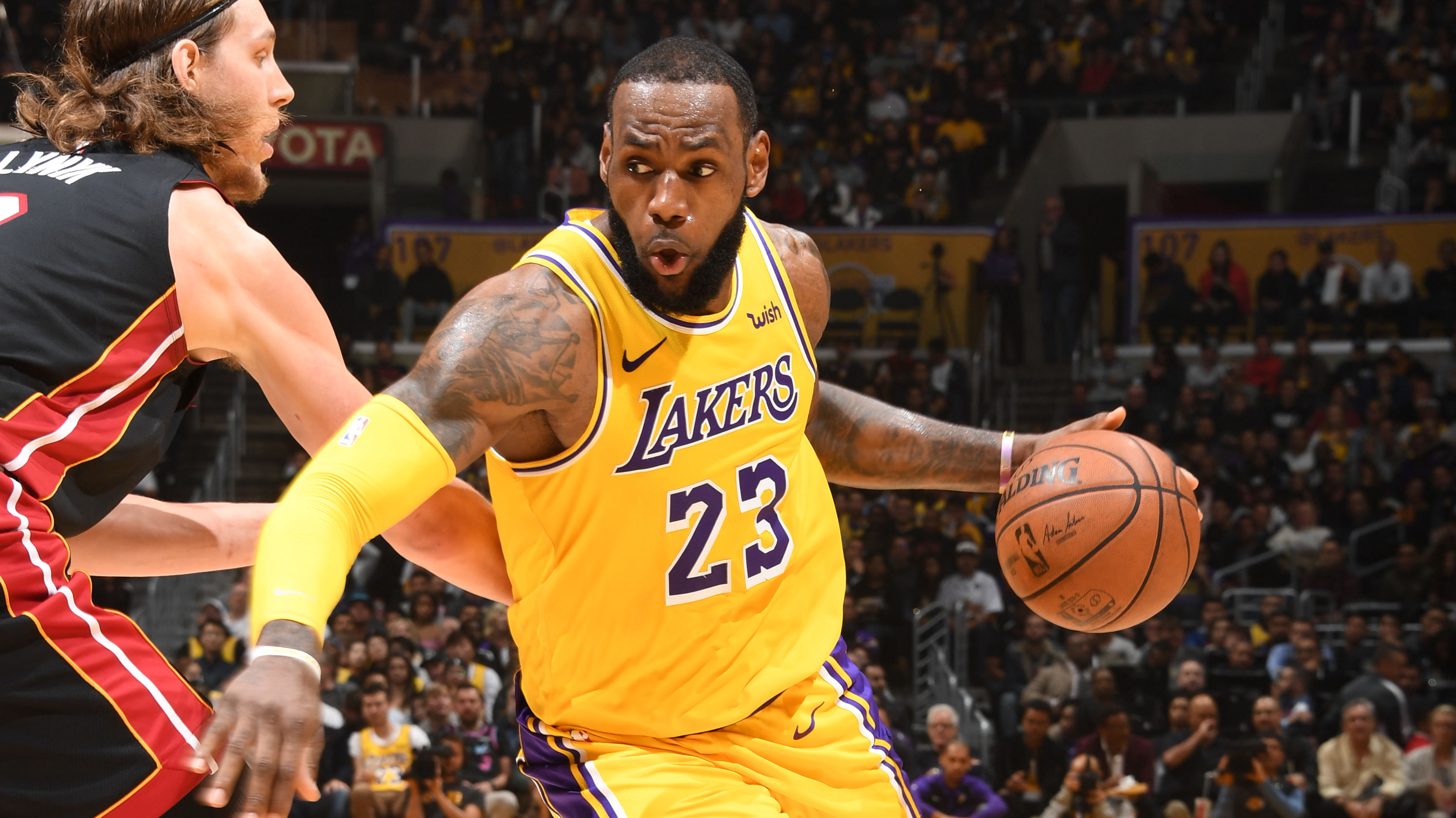 GAME RECAP: Lakers 108, Heat 105