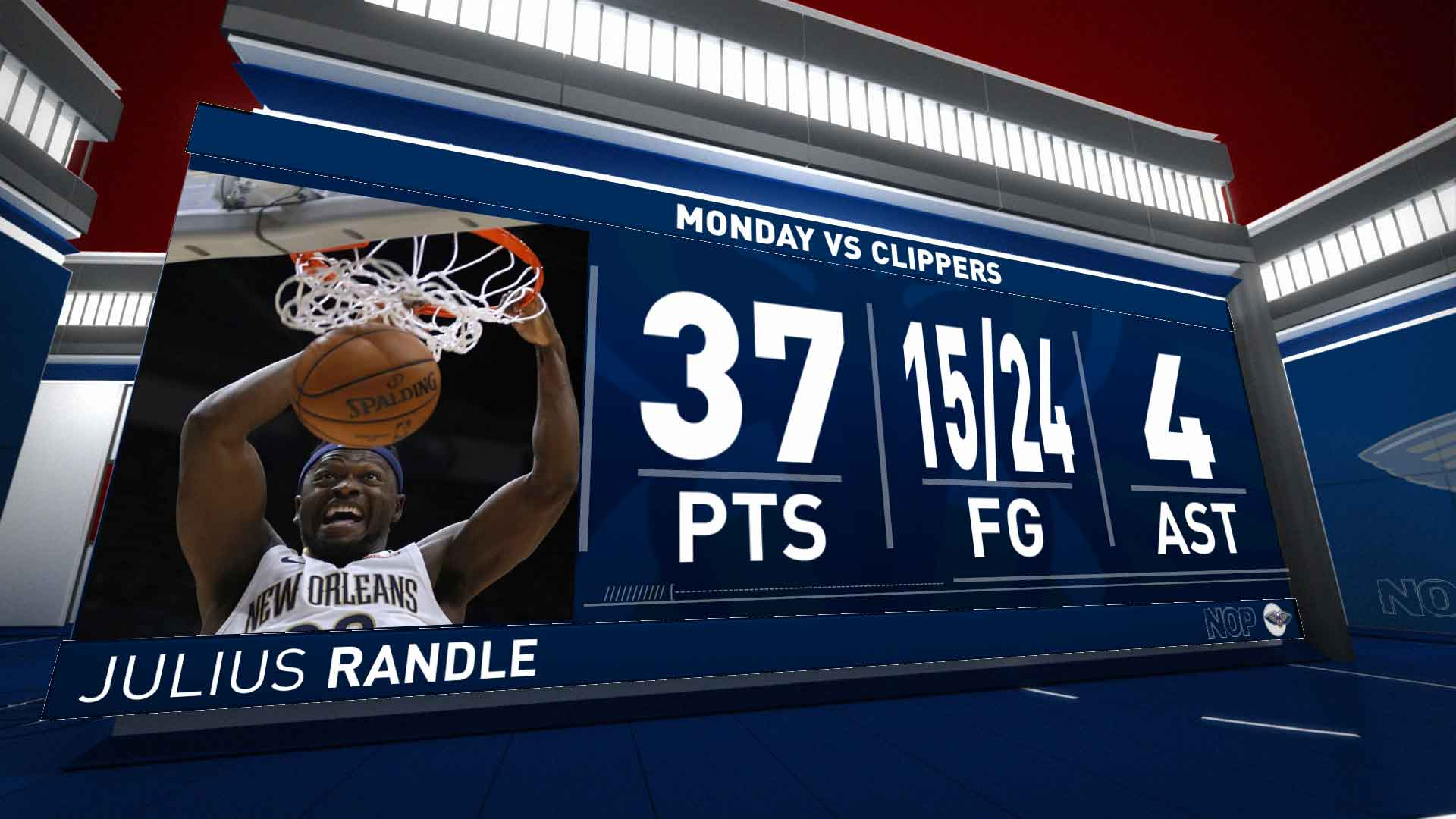 Julius Randle (37 points) Highlights vs. Los Angeles Clippers