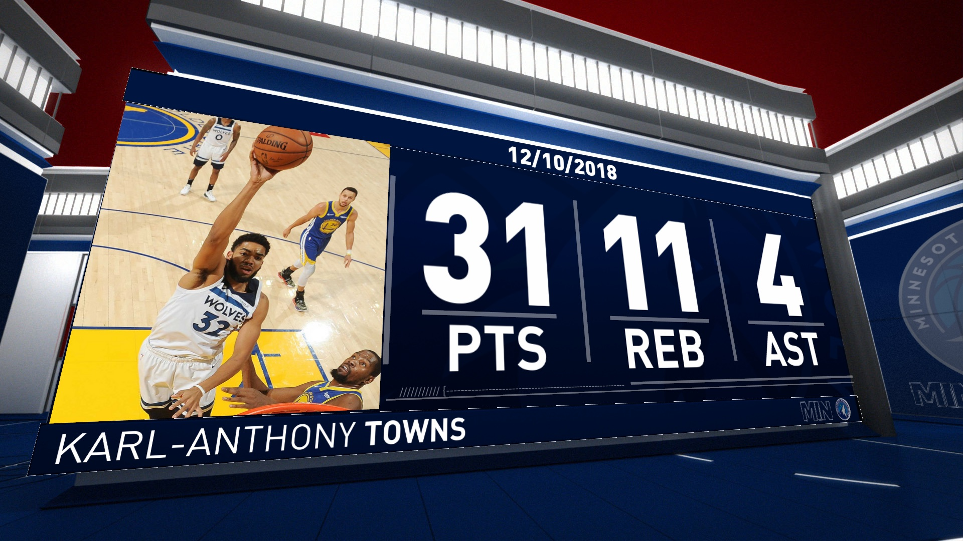 Karl-Anthony Towns (31 points) Highlights vs. Golden State Warriors