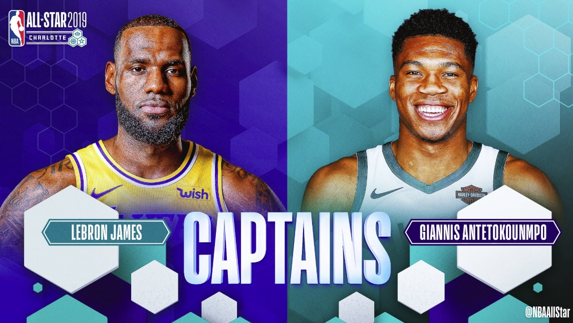 571e4d417 LeBron James and Giannis Antetokounmpo draft team rosters for 2019 NBA All-Star  Game