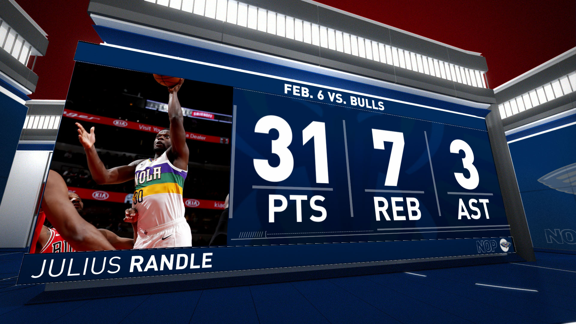 Pelicans Stat Leader Highlights: Julius Randle scores 31 in return vs. Bulls