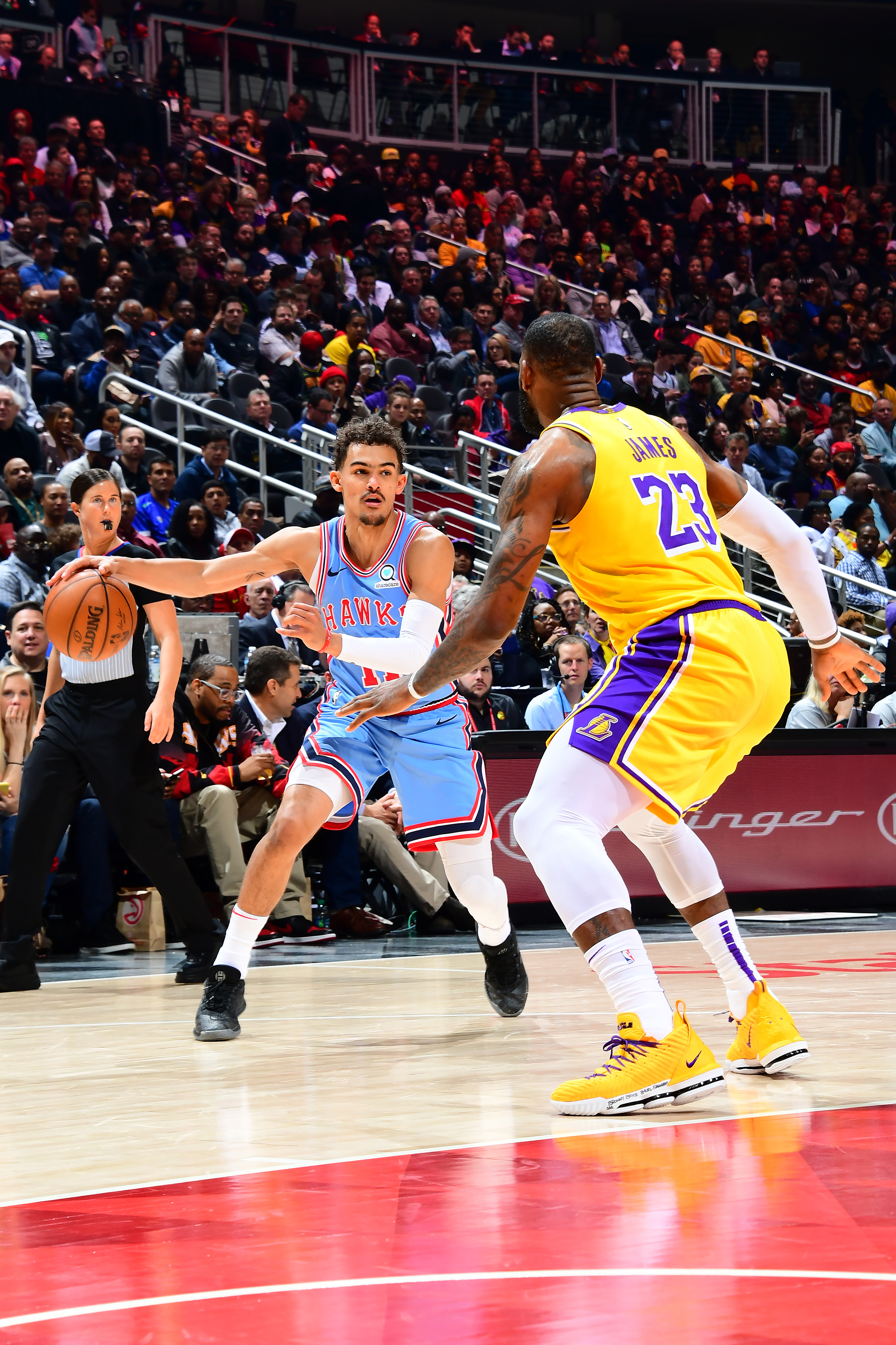 About Last Night Trae Young Steps Up Vs Lebron Lakers