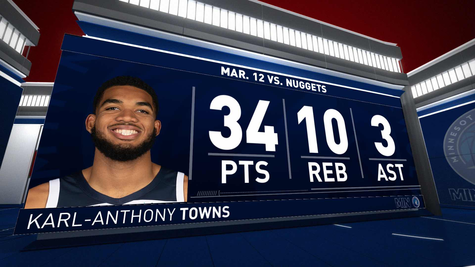 Highlights | Towns With 34 Points And 10 Rebounds vs. Nuggets