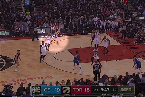 Warriors surge to 8 pt lead over Raptors after 3 quarters