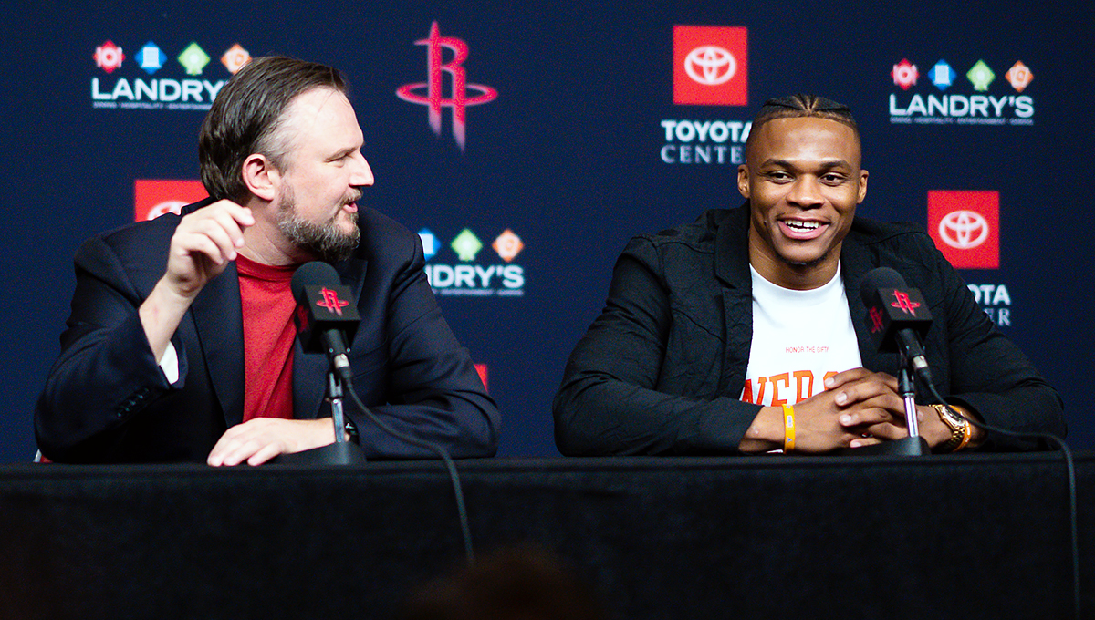 Rockets GM welcomes Westbrook to Houston