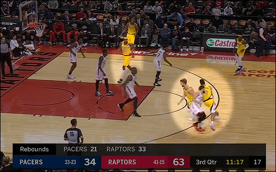 Myles Turner in the paint