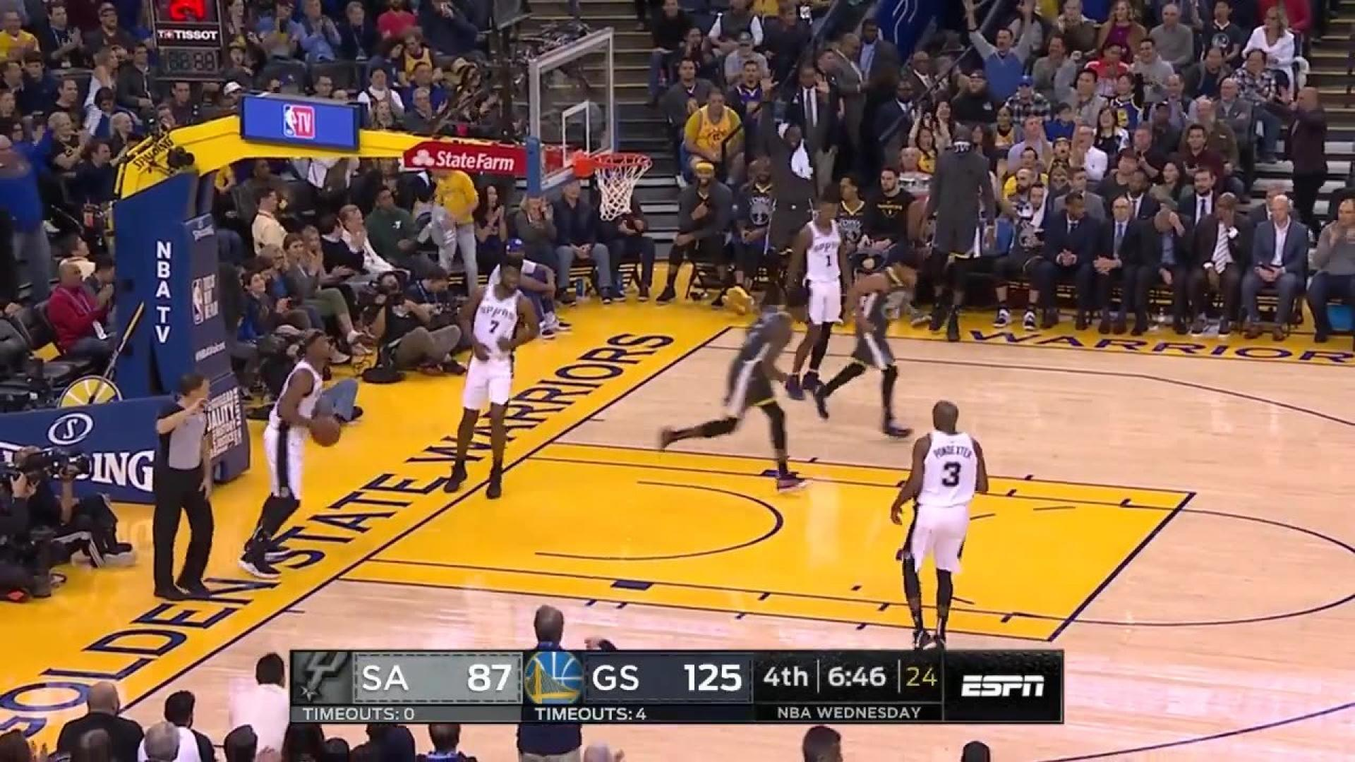 Golden State Warriors with a 12-0 Run vs. San Antonio Spurs  db4c203ee