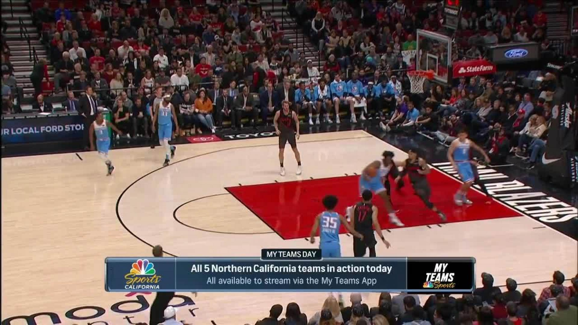 Sacramento Kings with 8 3-pointers in the 2nd Quarter vs