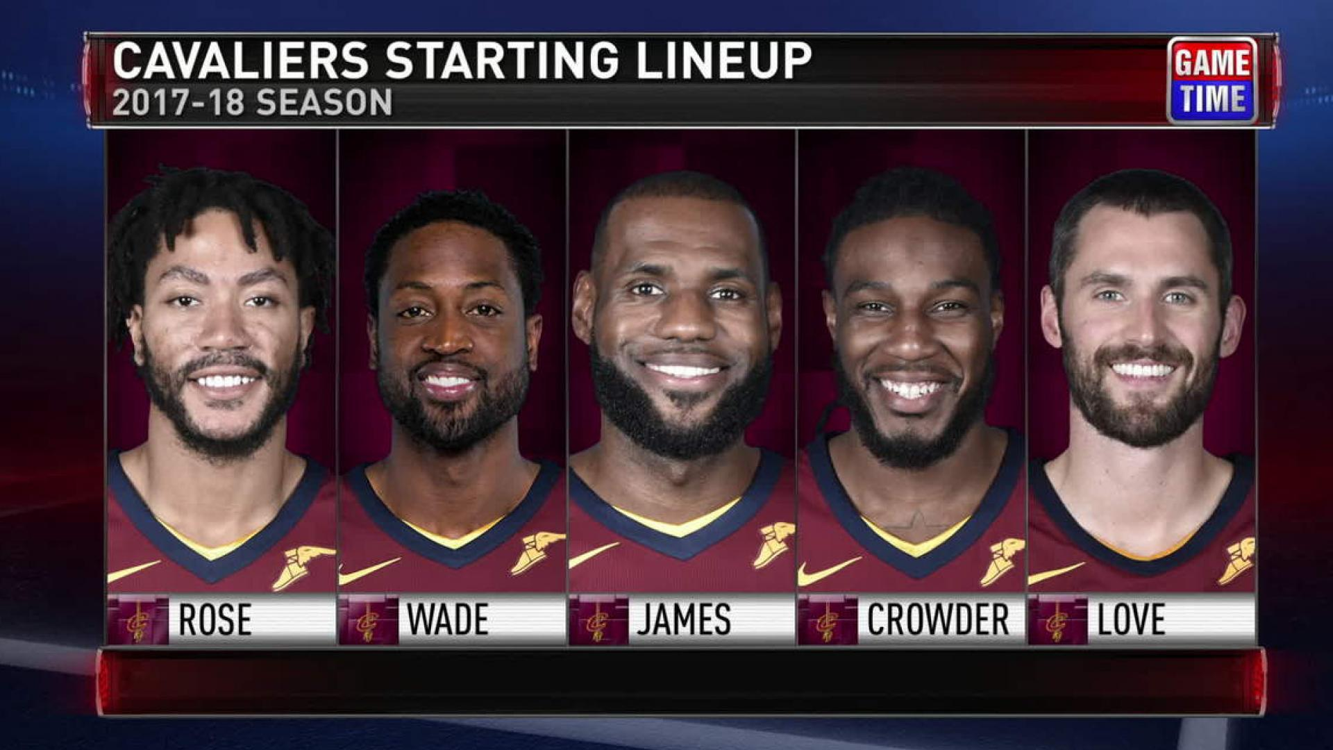 7d3a26dac7b Cleveland Cavaliers to start Dwyane Wade with Derrick Rose