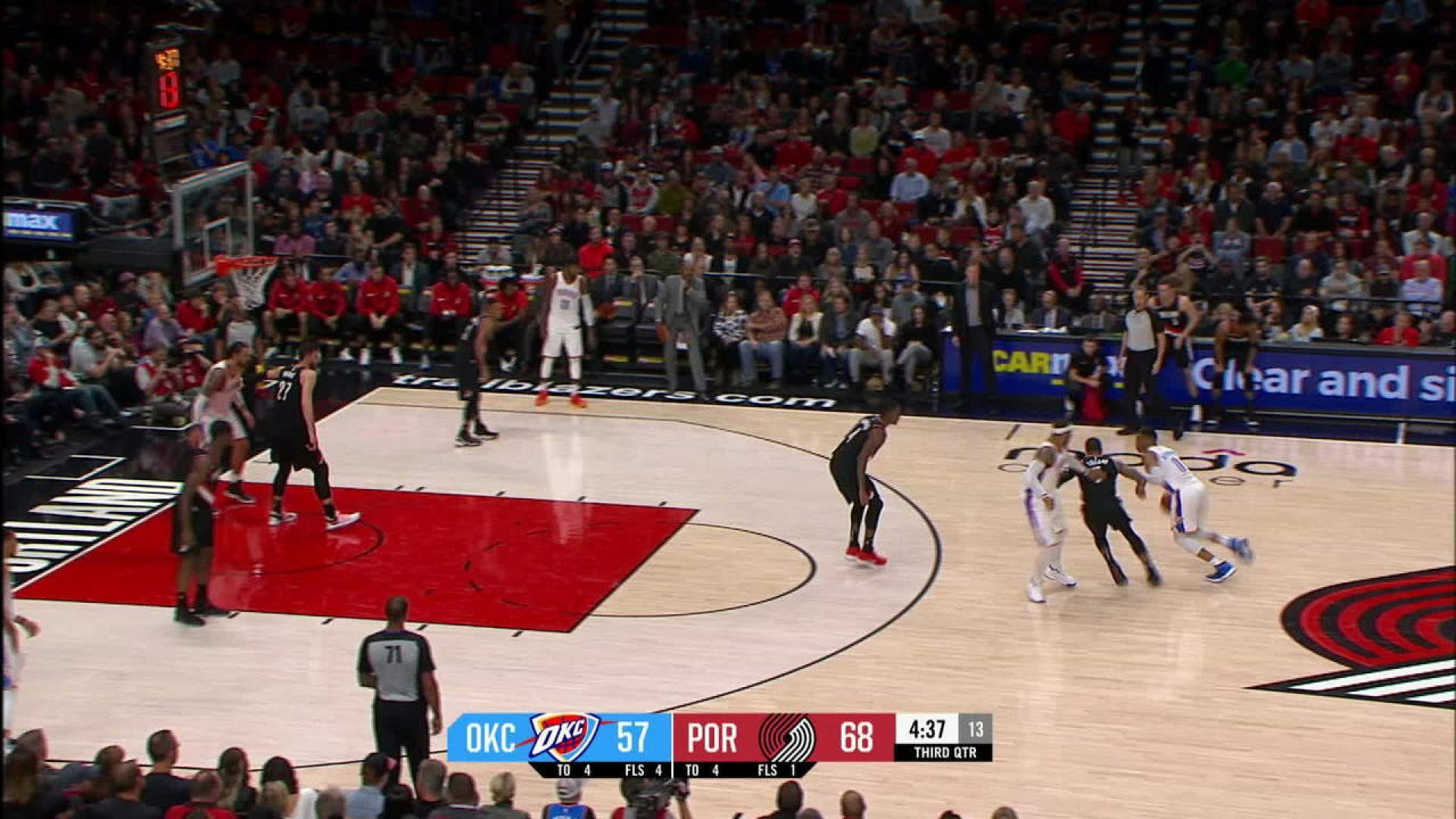 Controversial Call Costs Thunder Against Blazers