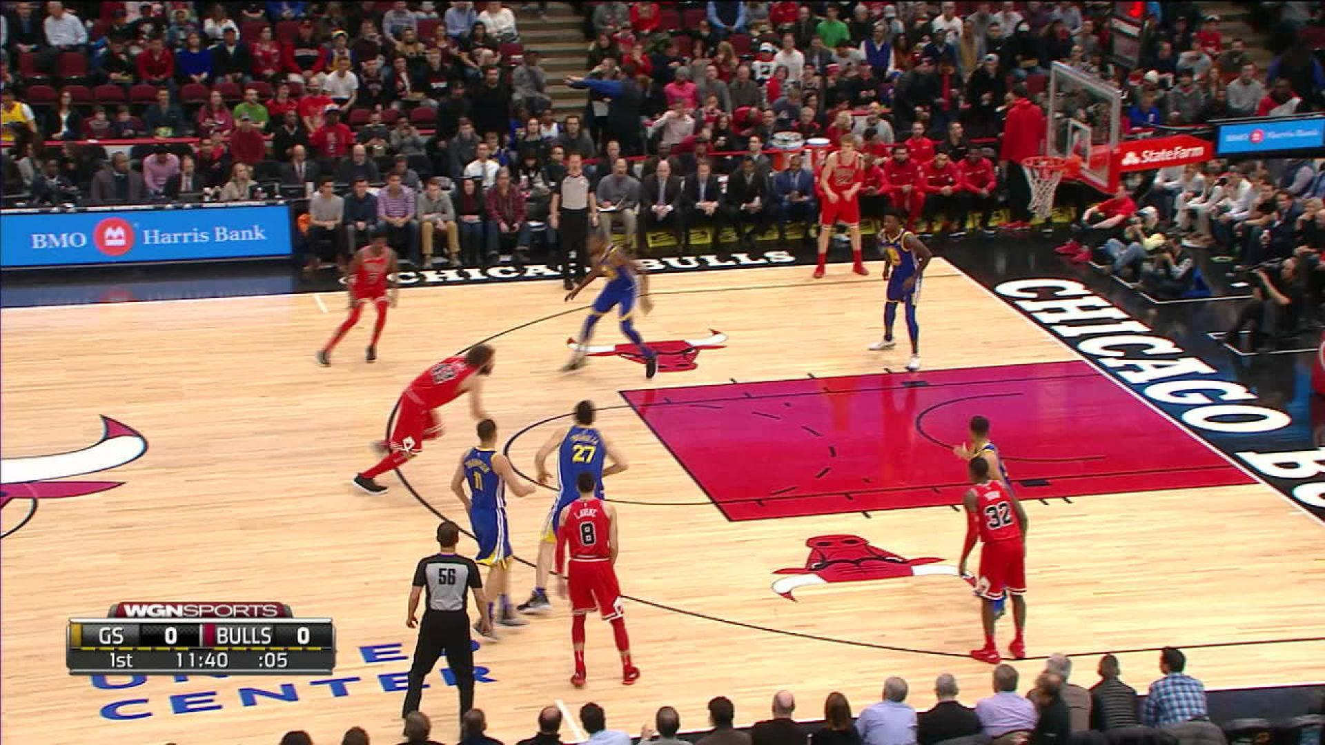 Kris Dunn Face Plants After Dunk