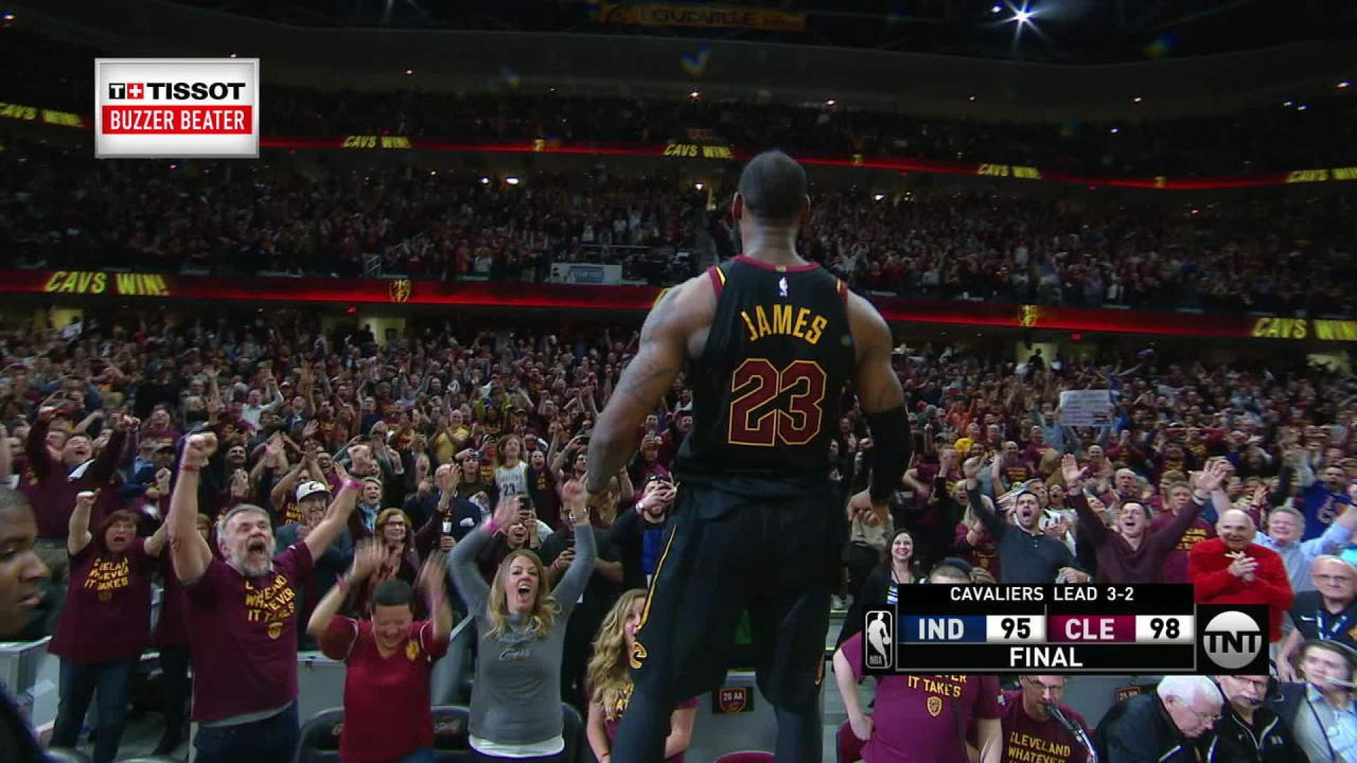 Cavs Superstar Nails Fourth Playoff Game Winning Buzzer Beater Of Career