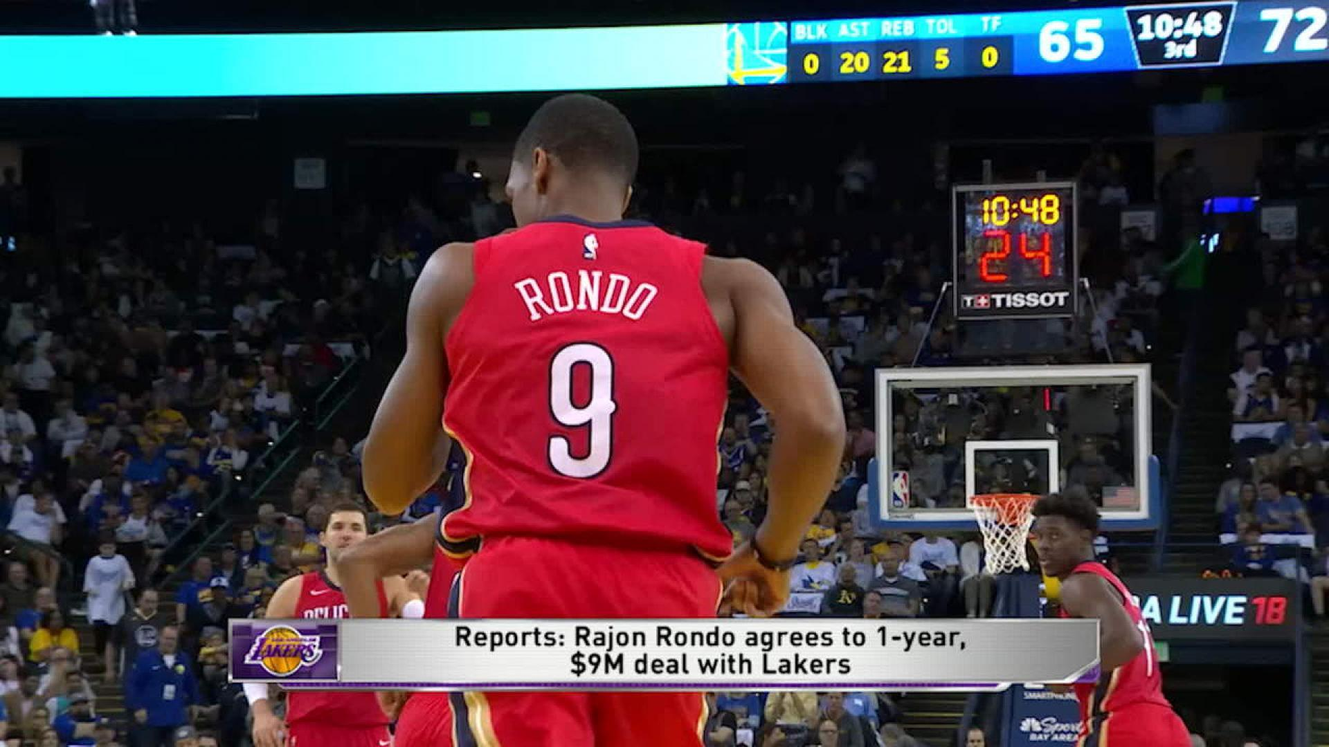 9299b97d3fc Reports: Los Angeles Lakers reach deal with veteran guard Rajon Rondo