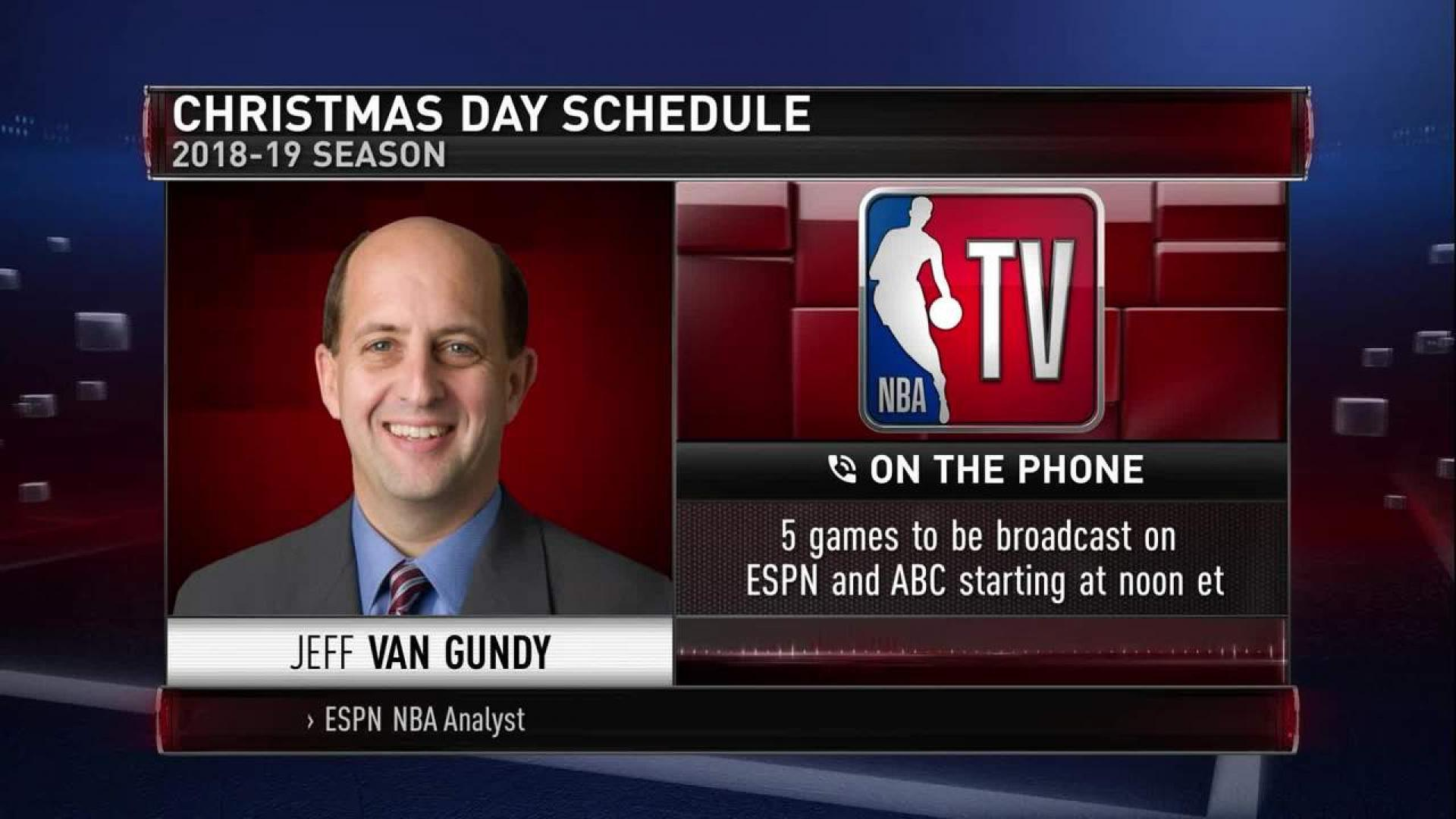 Nba Christmas Day Schedule.Jeff Van Gundy Talks Christmas Day Schedule Nba Com