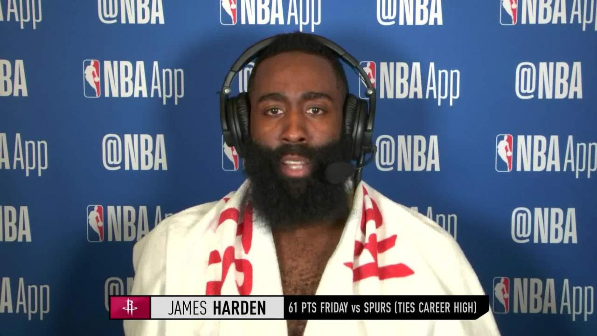 76f88e8acccf Harden Ties Career-High With 61 In Comeback Win