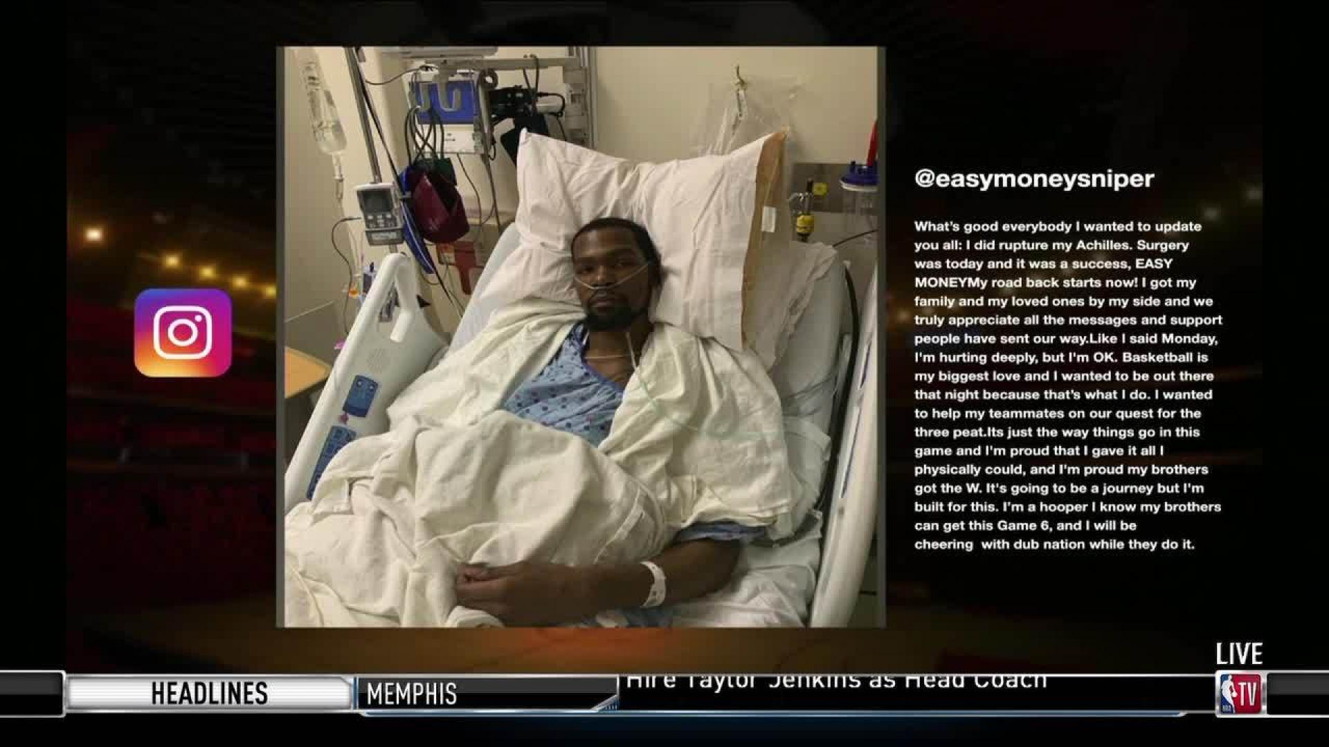 Kevin Durant confirms he suffered ruptured right Achilles