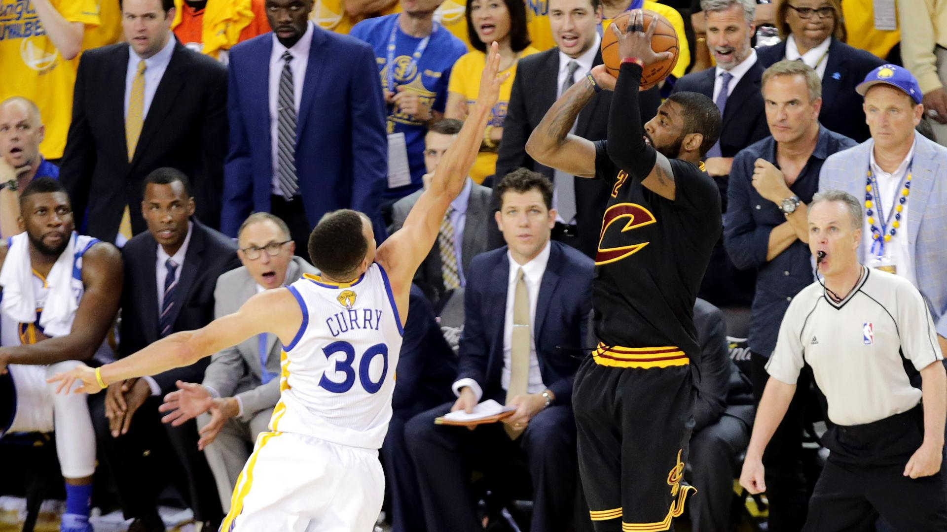 19c02fe740eaee Top NBA Finals moments  Kyrie Irving s clutch 3-pointer seals Game 7 of  2016 Finals