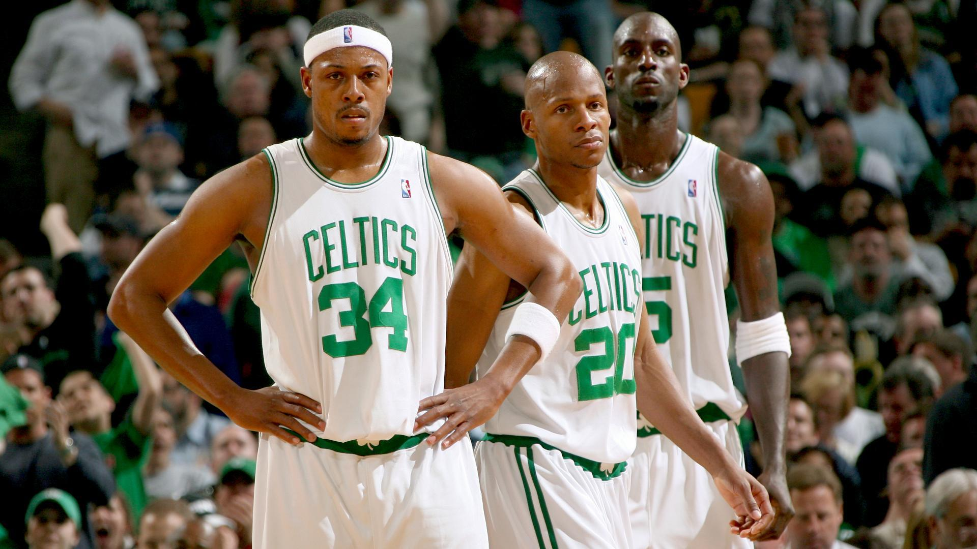 Led By Paul Pierce Ray Allen And Kevin Garnett The   Celtics Finished