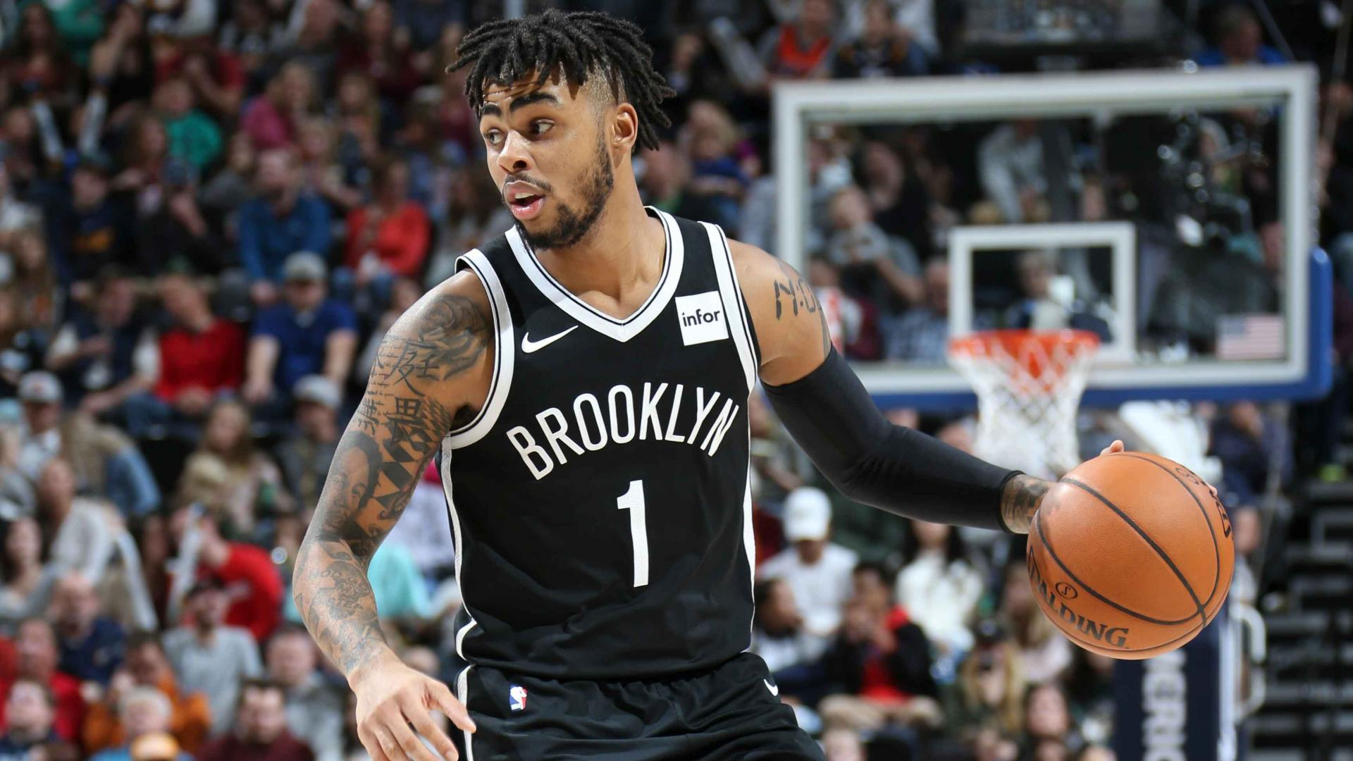 1:35Play     D'Angelo Russell finishes with 26 points in 114-106 loss in Utah