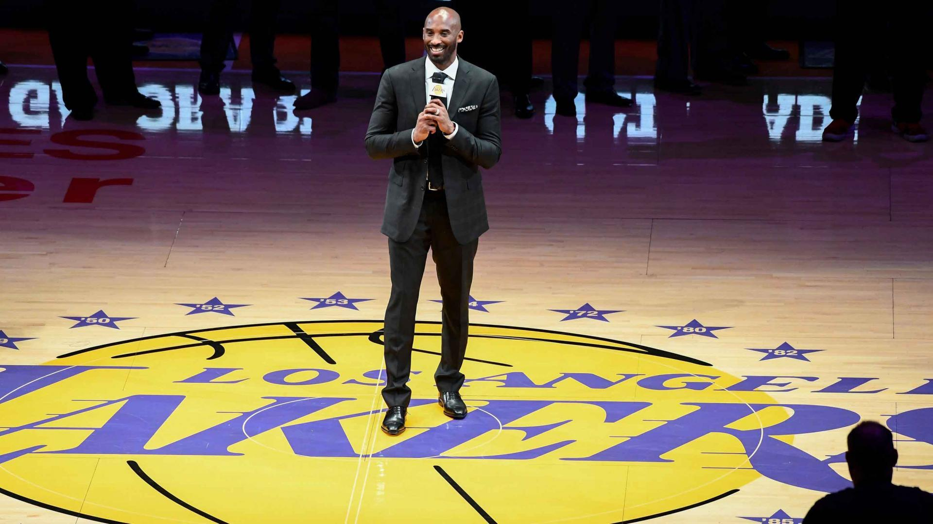 ebe1a7d6386 Watch Full Recap of Kobe Bryant s Jersey Retirement. Take a look back at  the Los Angeles Lakers ...