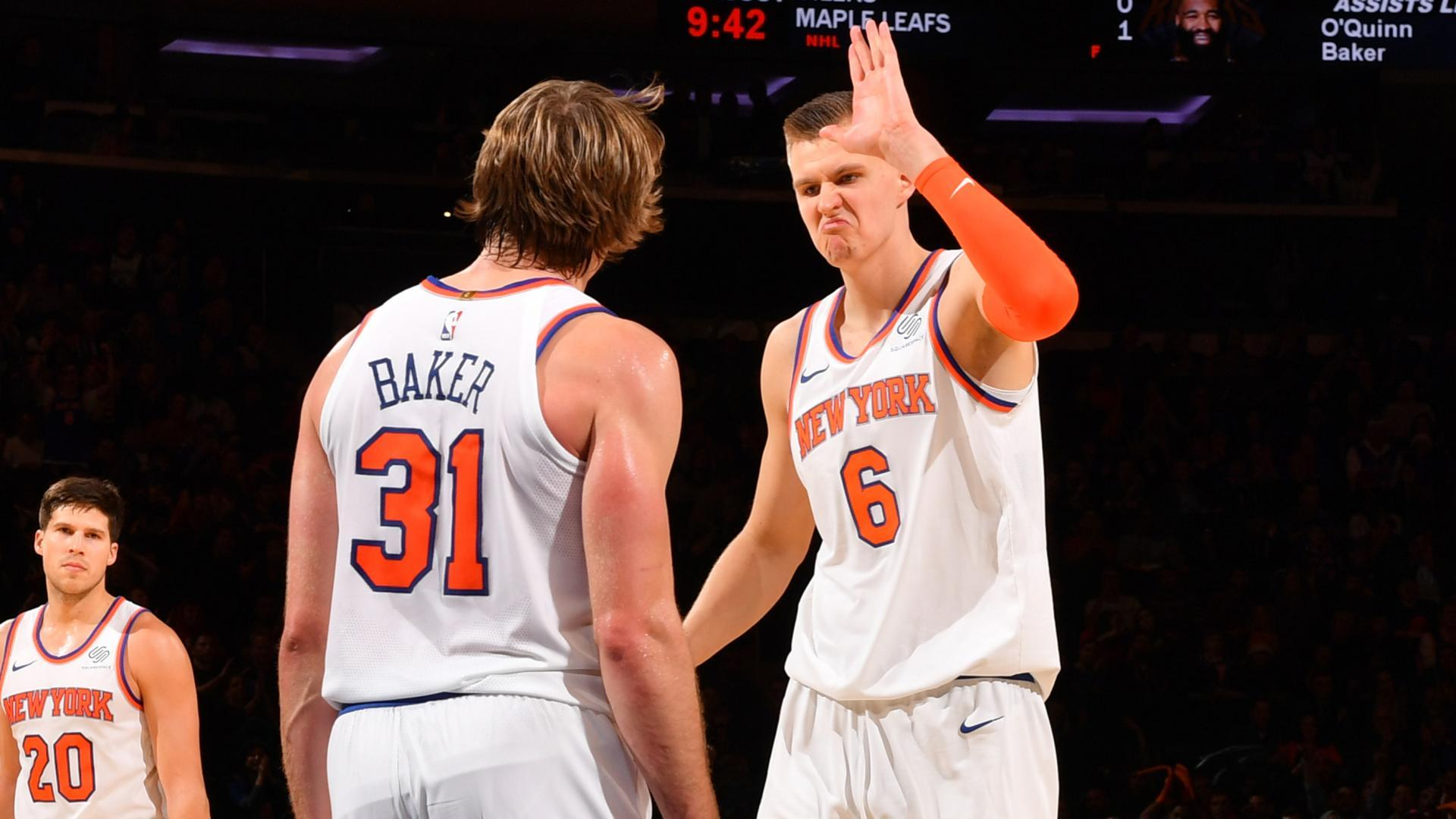 National Basketball Association roundup: Porzingis, Knicks beat Lakers in OT