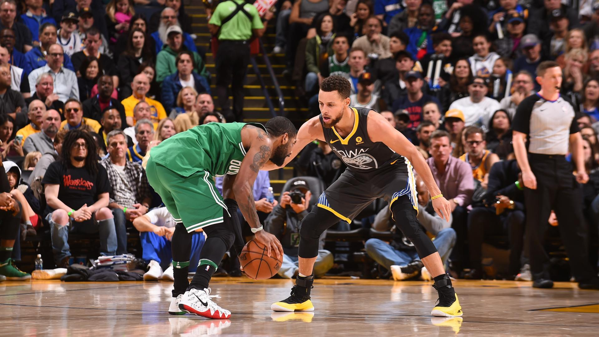 LeBron James is amazed by the Stephen Curry-Kyrie Irving showdown