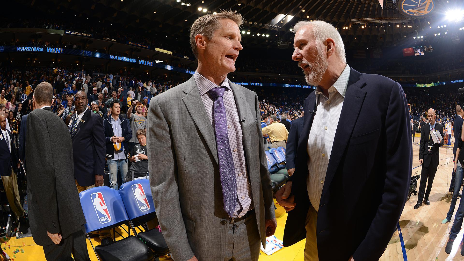 bfd3ddfd906b Some social media types have jokingly pushed for Steve Kerr and Gregg  Popovich to run for office in 2020.