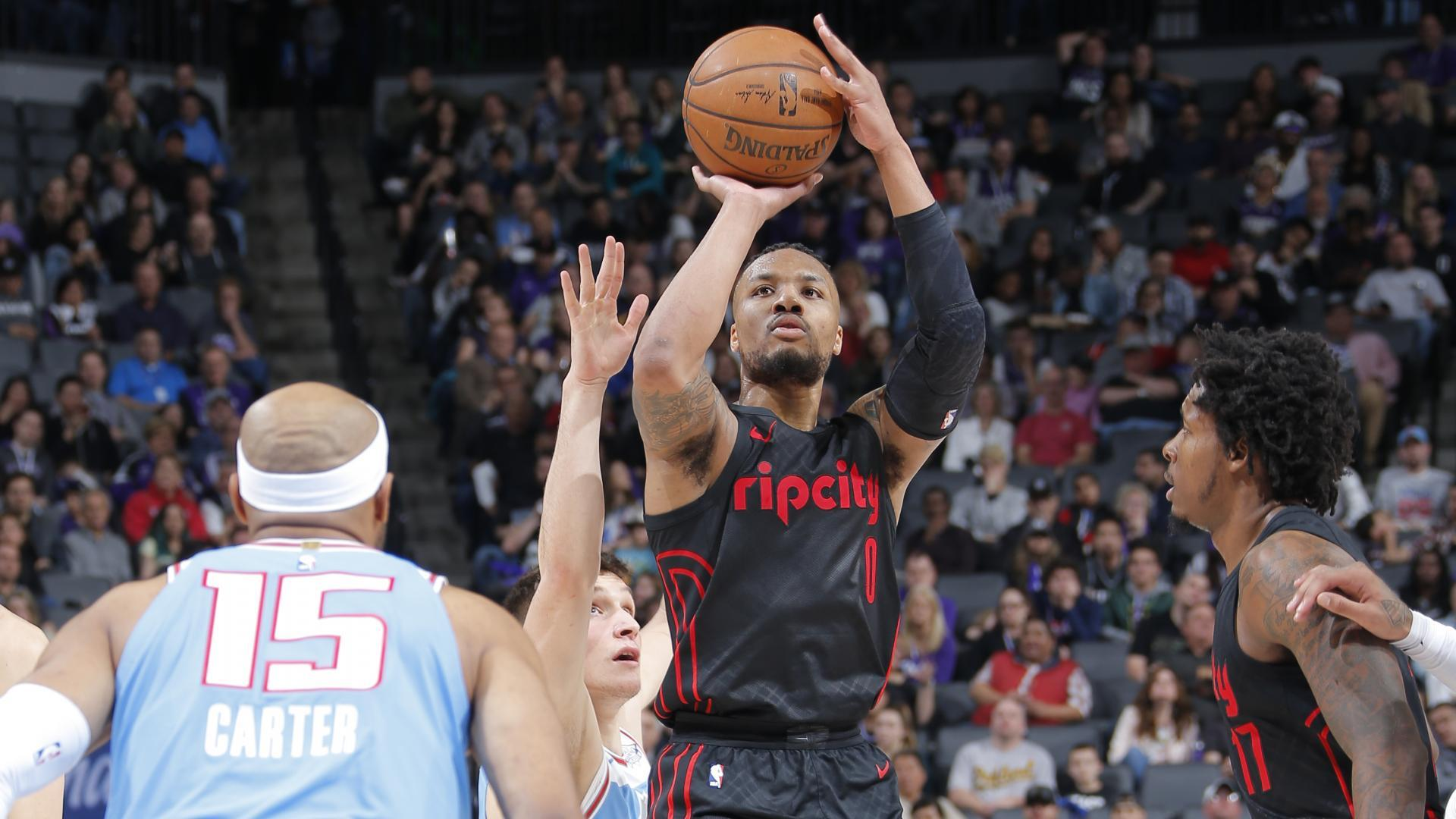 2a1cac81b9c Damian Lillard dismisses talk he is 'unhappy' playing for Portland Trail  Blazers