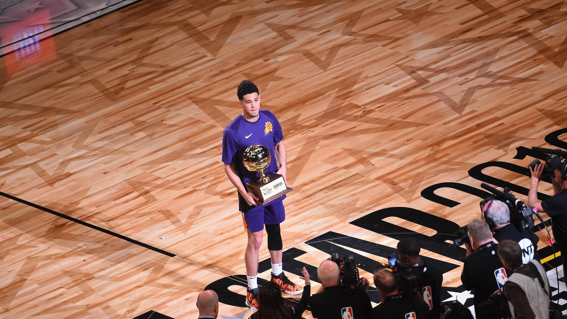 Devin Booker Takes Jbl Three Point Contest In Record