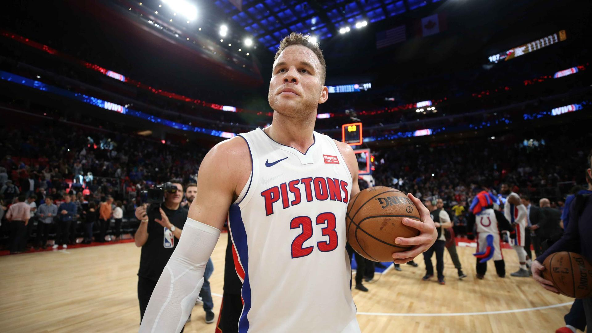 Pistons' win streak clipped by Griffin's former team