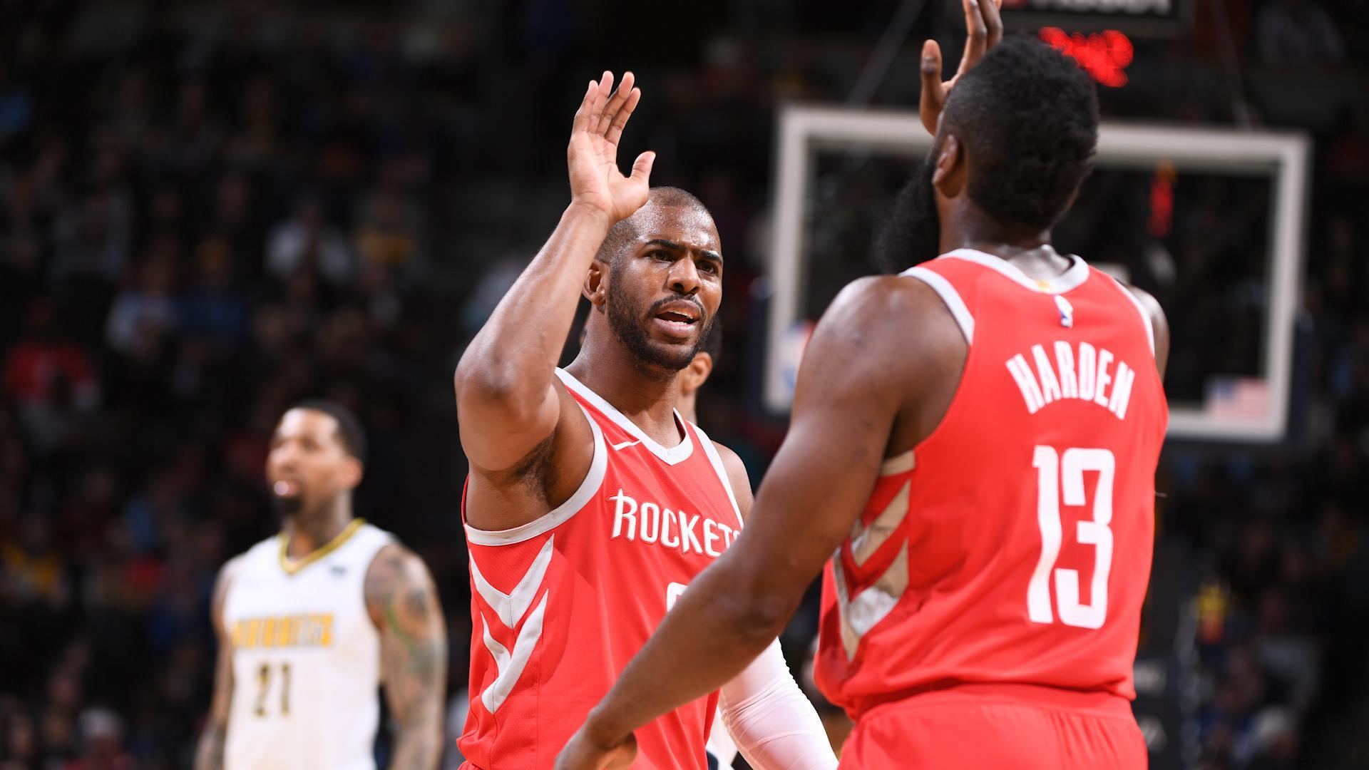 Harden's 41 points guide Rockets past Nuggets
