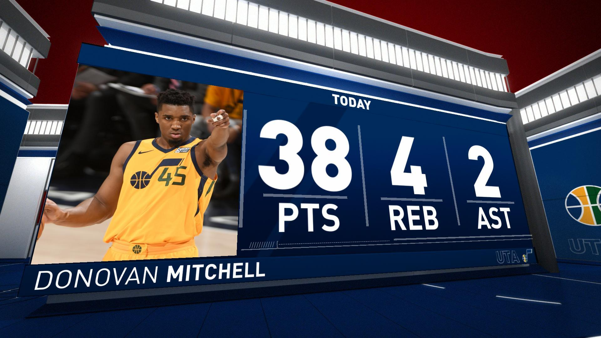 3b66bf22d30 Utah Jazz rookie Donovan Mitchell silences Oklahoma City Thunder with  historic performance in series-clinching victory
