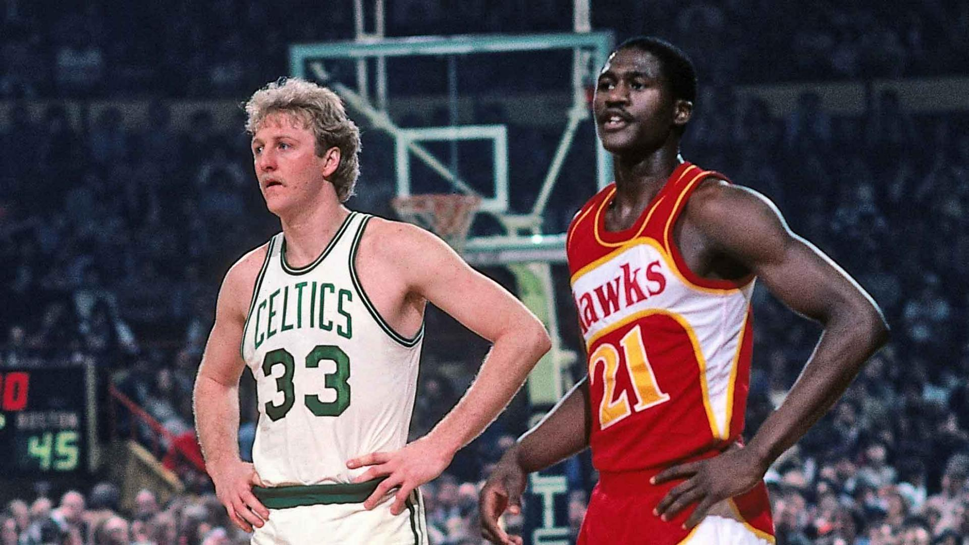 Legendary Moments in NBA History  Larry Bird and Dominique Wilkins battle  in Game 7 f6d694d46