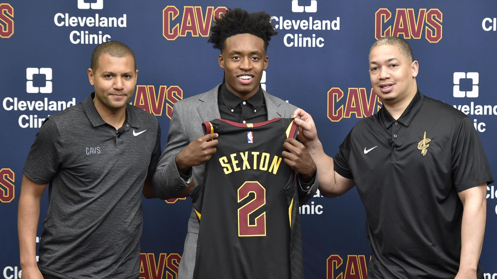 quality design d6c57 acd04 Collin Sexton to wear Kyrie Irving's No. 2 with Cleveland ...