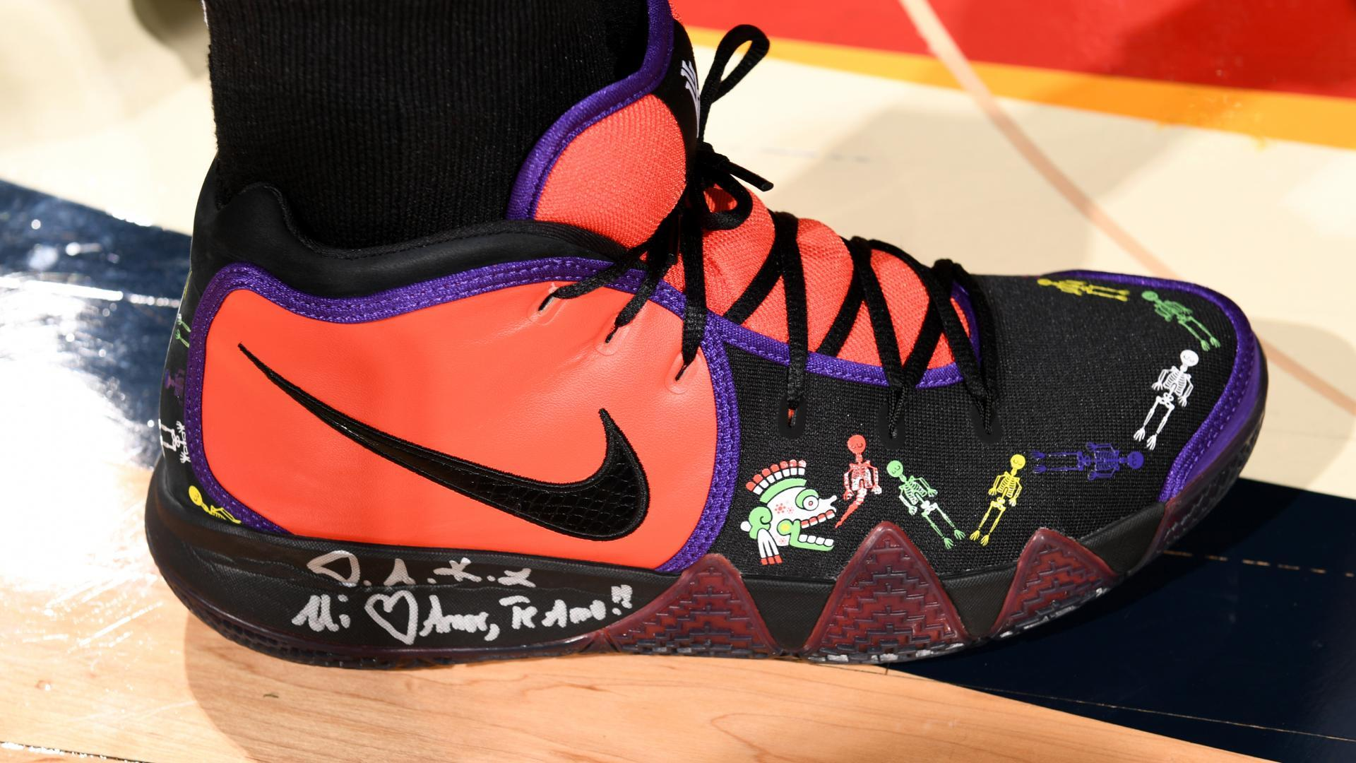 6c60721f56b937 Kyrie Irving hit the court in a special edition of the Nike Kyrie 4s…