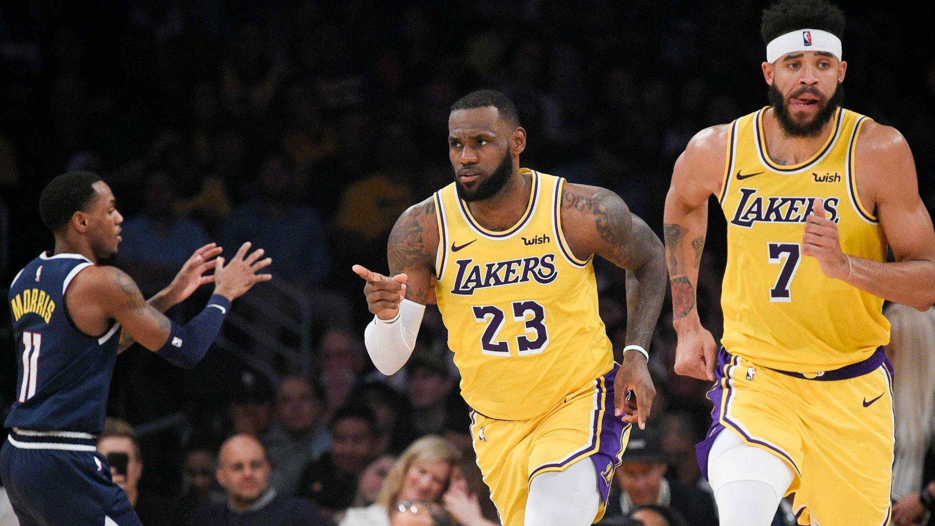 c98866067 GAME RECAP: Lakers 121, Nuggets 114. LeBron James notches his first ...