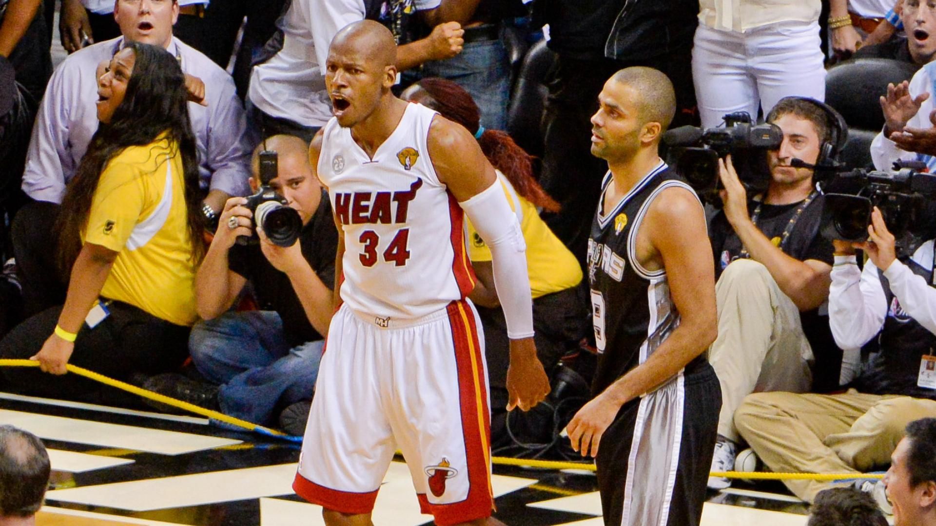 Top Moments: Allen's clutch 3-pointer saves day for Heat in 2013 ...