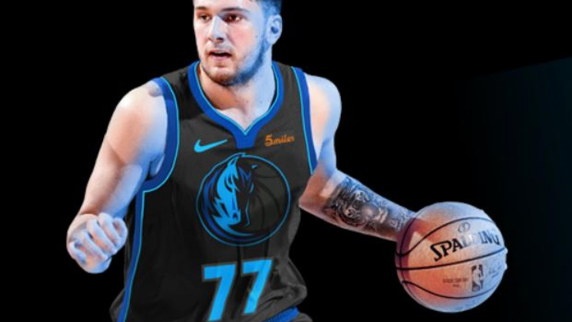 A mock-up of Luka Doncic in the Mavericks  latest City Edition uniform. 3e5cc9f9c