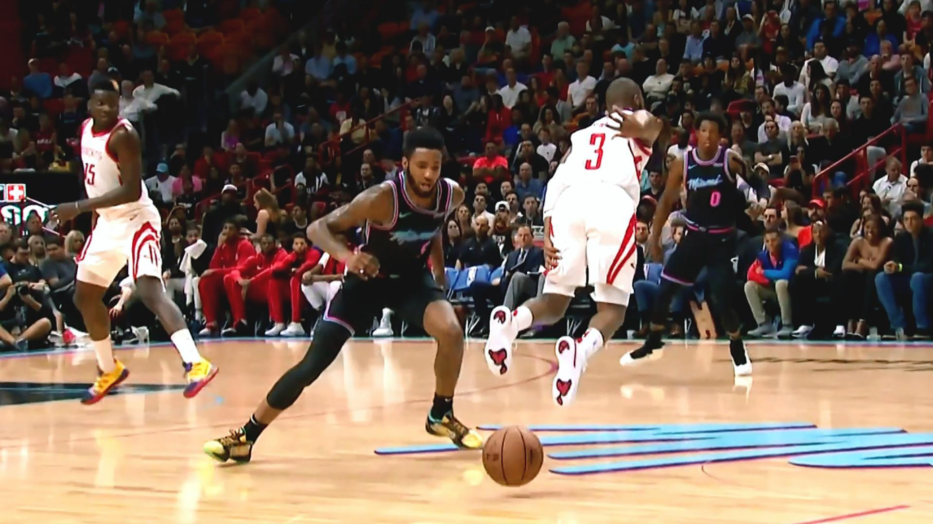 96d8a4fa6637 Chris Paul exits Heat-Rockets game with strained left hamstring ...