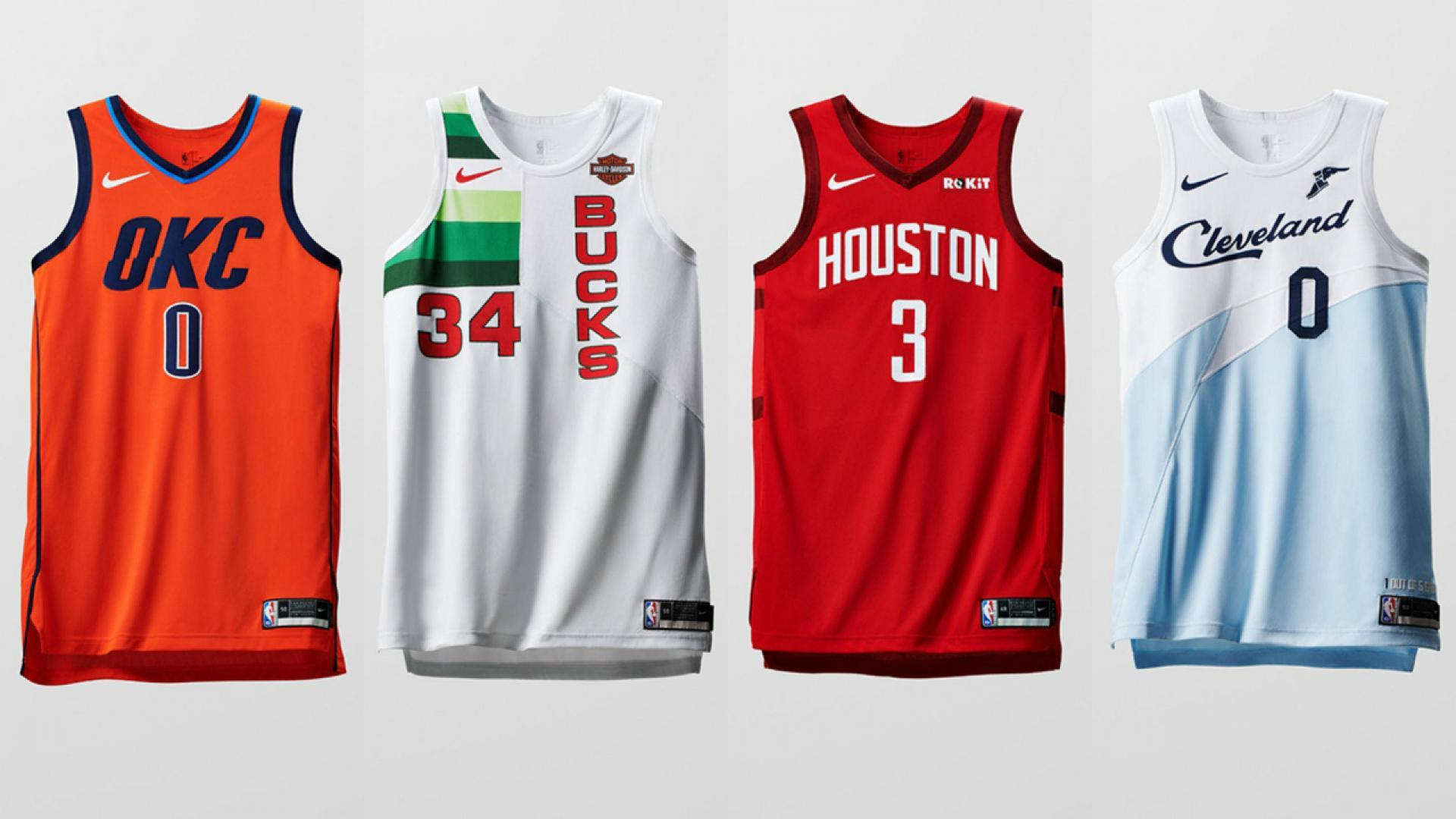 d1f751d4a22 Earned Edition uniforms for Oklahoma City, Milwaukee, Houston and Cleveland.