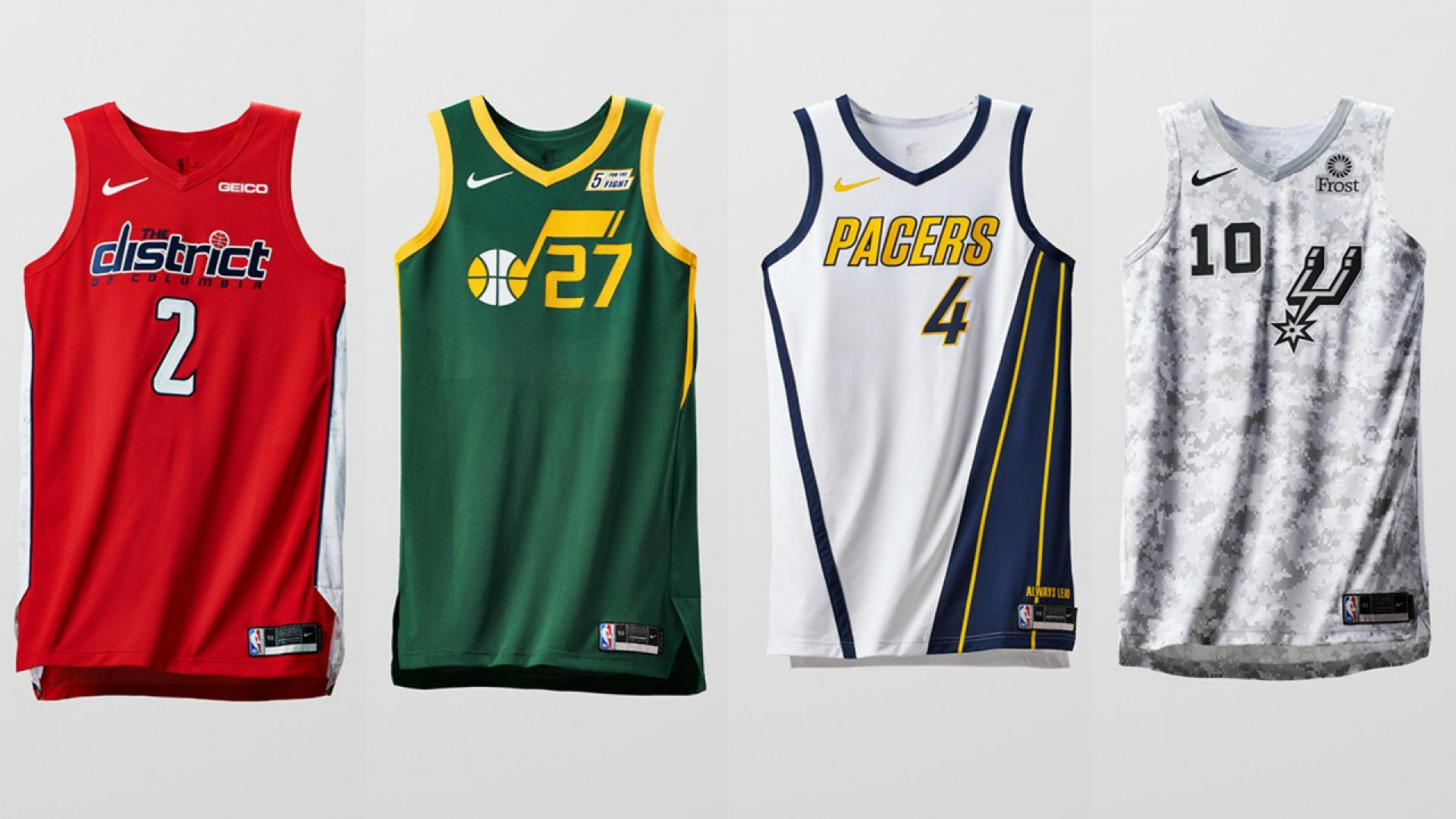 f9b6fb313e2 Earned Edition uniforms for Washington, Utah, Indiana and San Antonio.